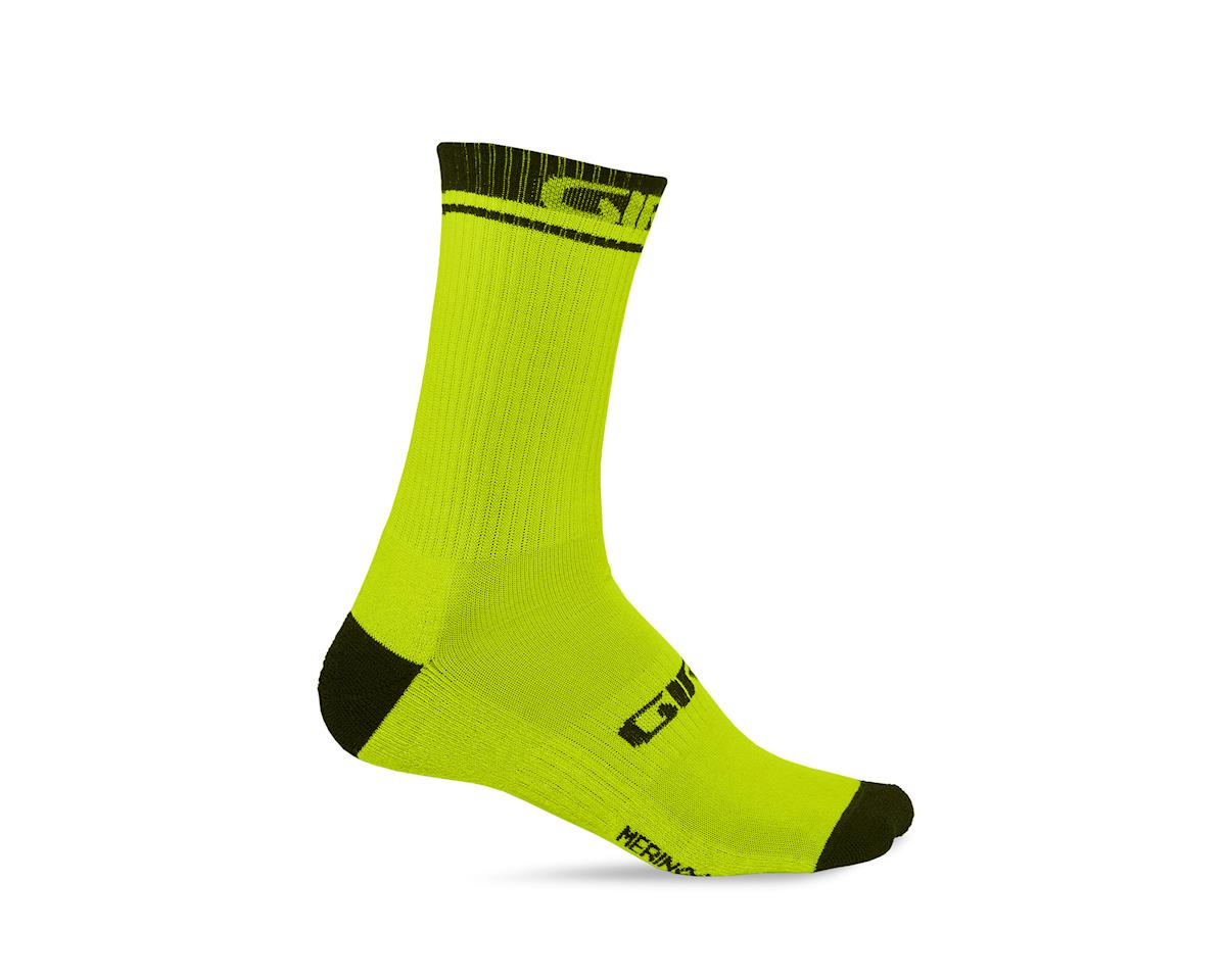 Giro Winter Merino Wool Socks (Lime/Black) (L)
