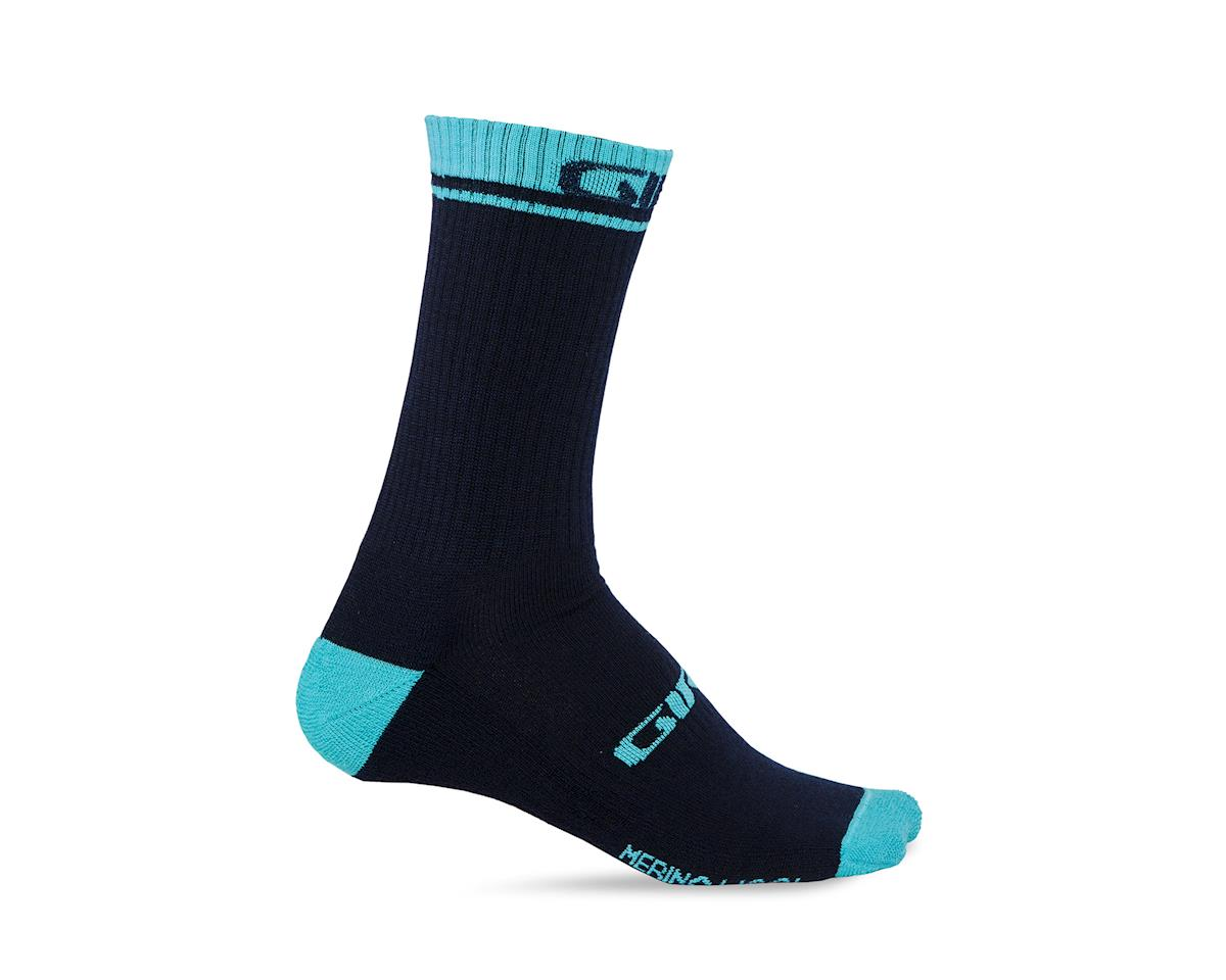 Giro Winter Merino Wool Socks (Midnight/Glacier) (L)