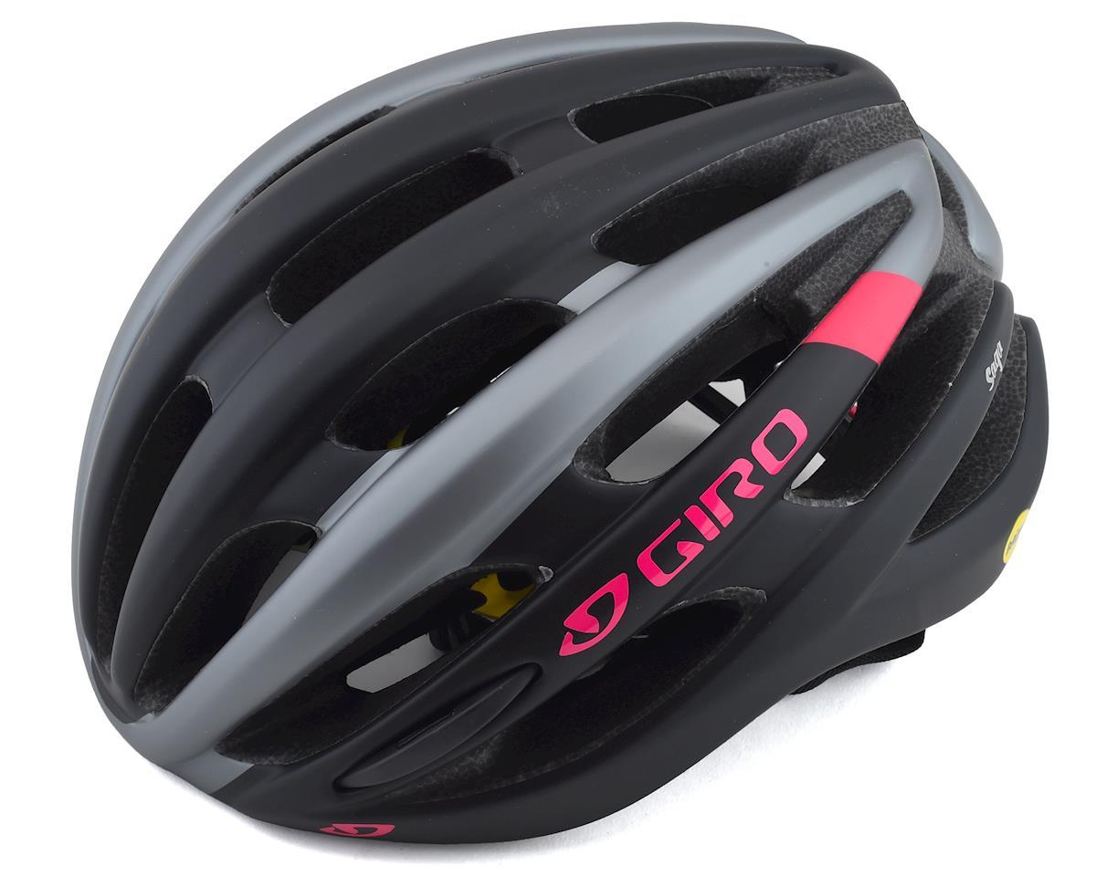 Image 1 for Giro Saga MIPS Women's Road Helmet (Matte Black/Pink) (M)