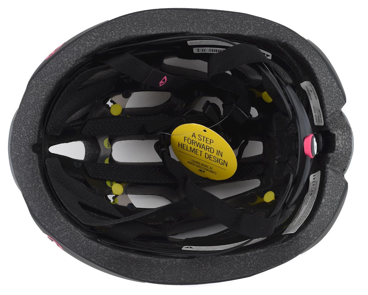 Giro Saga MIPS Women's Road Helmet (Matte Black/Pink) (M)
