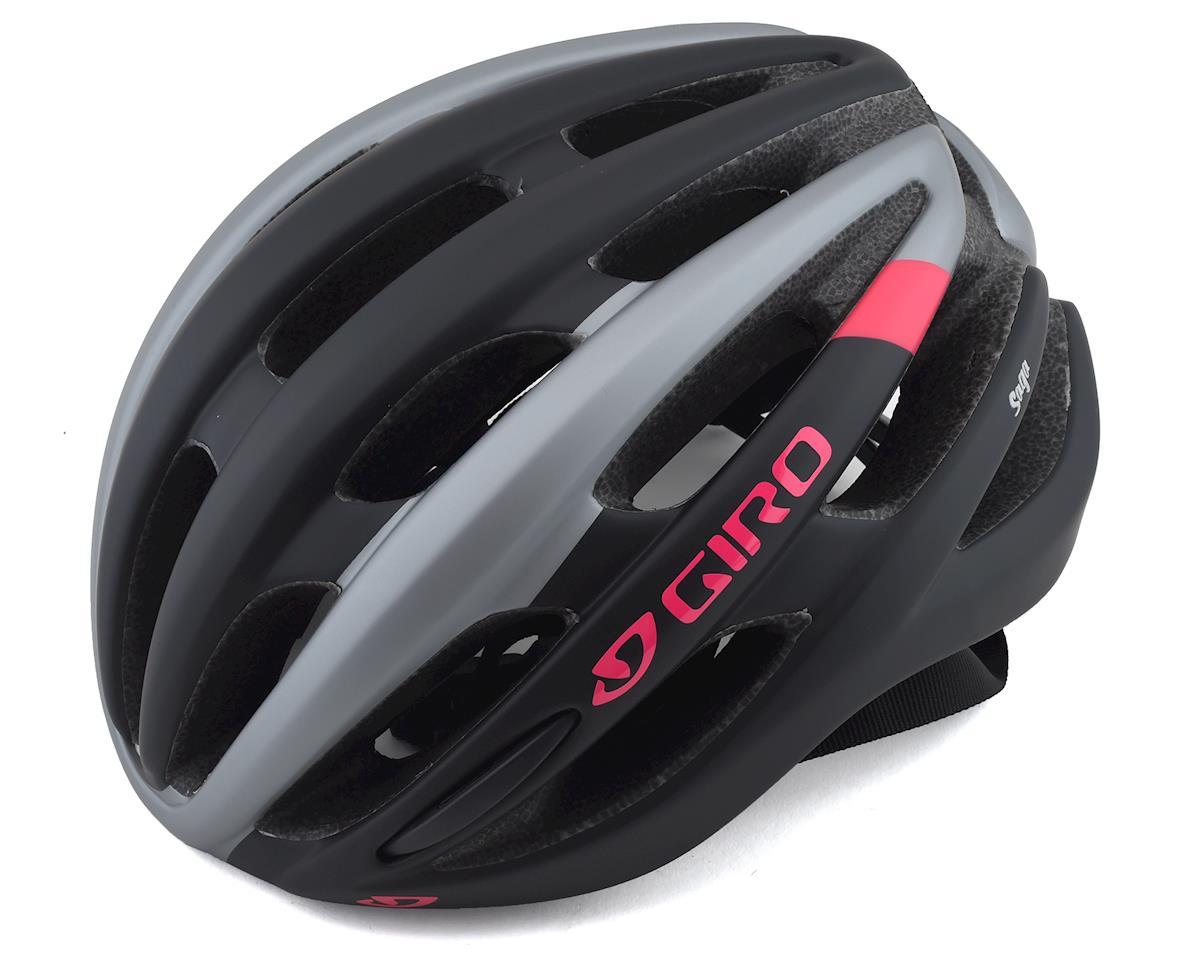Giro Saga Women's Road Helmet (Matte Black/Pink) (M)