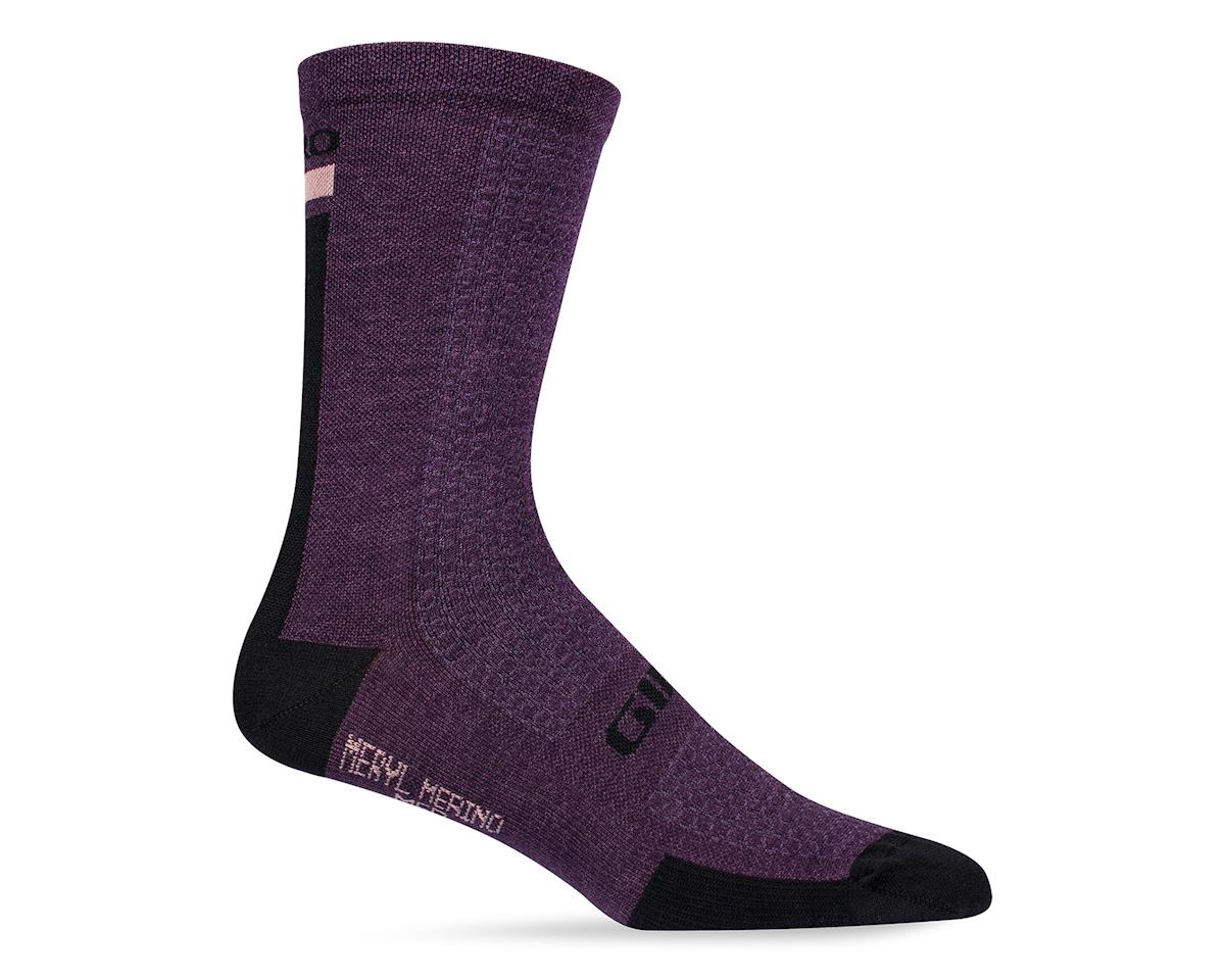 Giro HRc+ Merino Wool Socks (Purple/Black) (M)