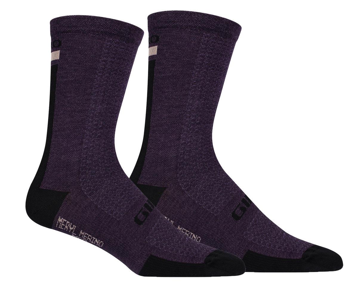Giro HRc+ Merino Wool Socks (Purple/Black) (L)
