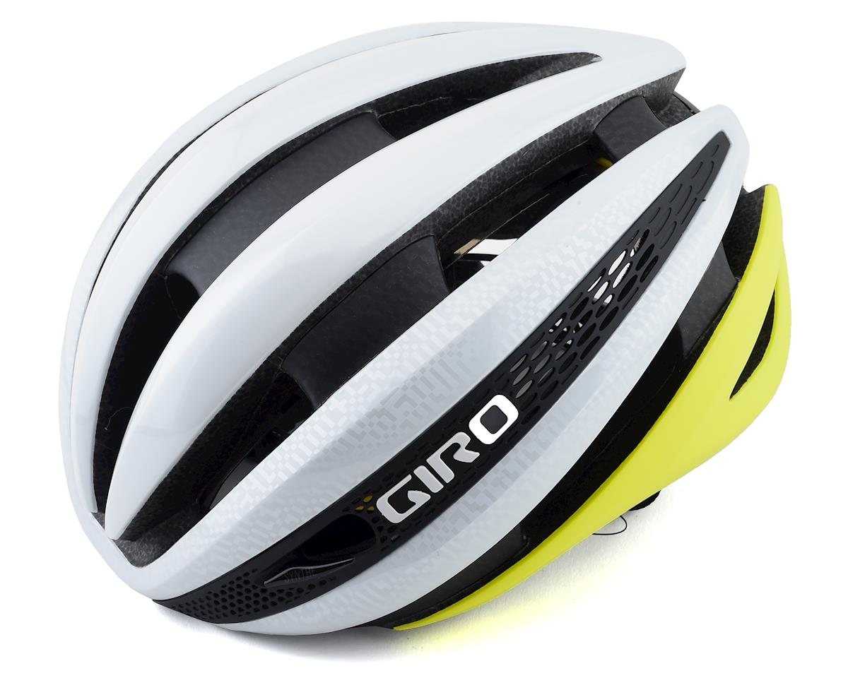 Giro Synthe MIPS Road Helmet (White/Citron) (S)