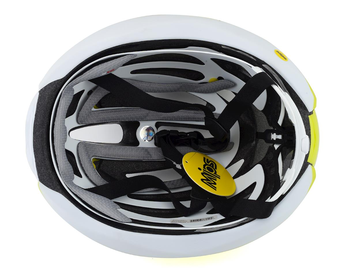 Giro Syntax MIPS Road Helmet (Matte Citron/White) (L)