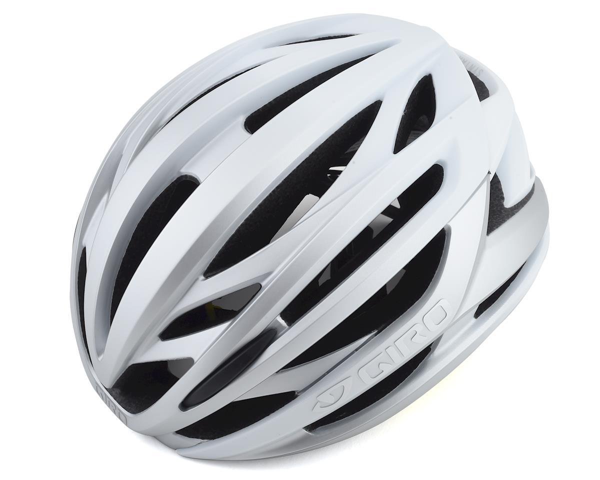 Giro Syntax MIPS Road Helmet (Matte White/ Silver) (L)