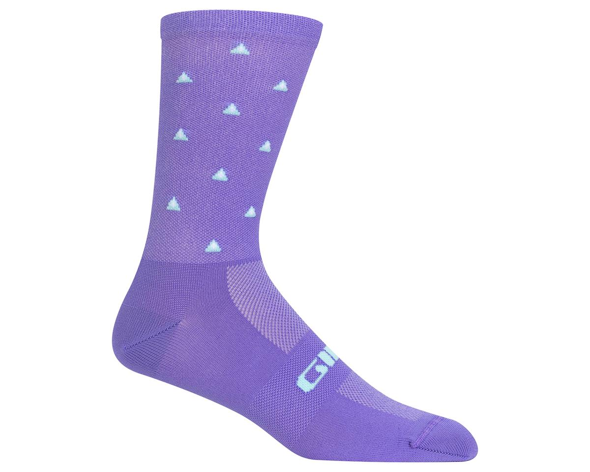 Giro Comp Racer High Rise Socks (Electric Purple Mountains) (L)