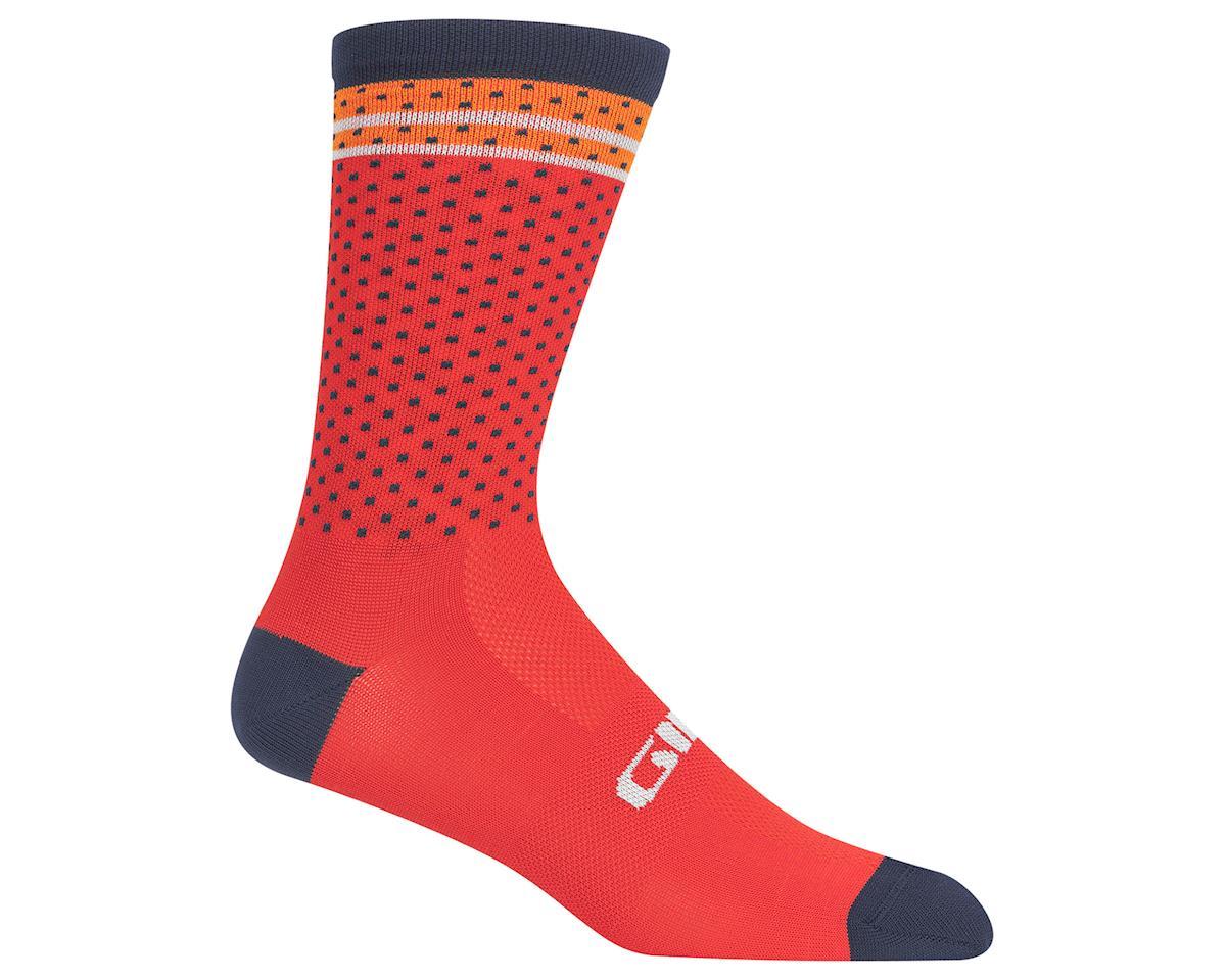 Giro Comp Racer High Rise Socks (Red/Orange Toner) (M)