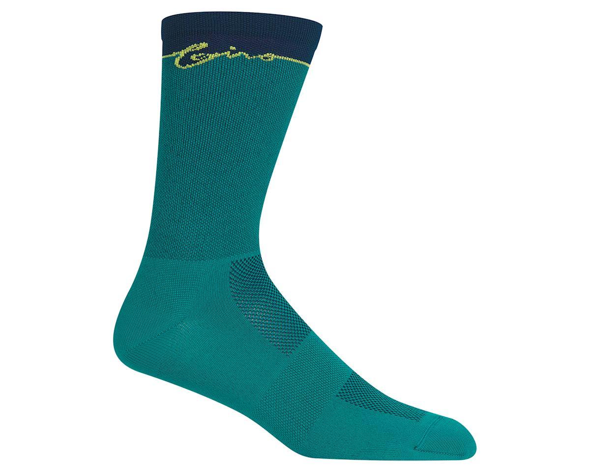 Giro Comp Racer High Rise Socks (True Spruce Flow) (L)