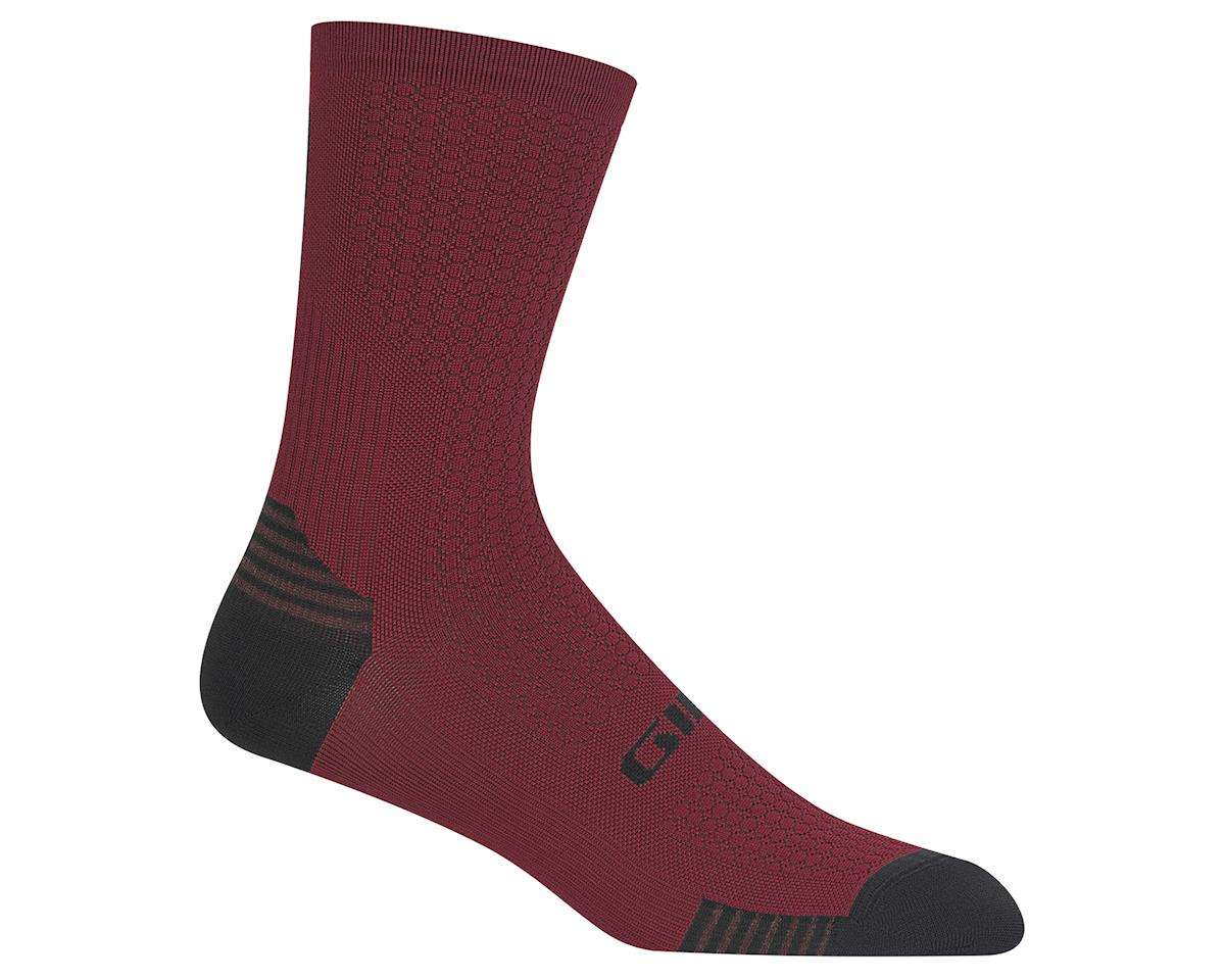 Giro HRc+ Grip Socks (Dark Red) (S)