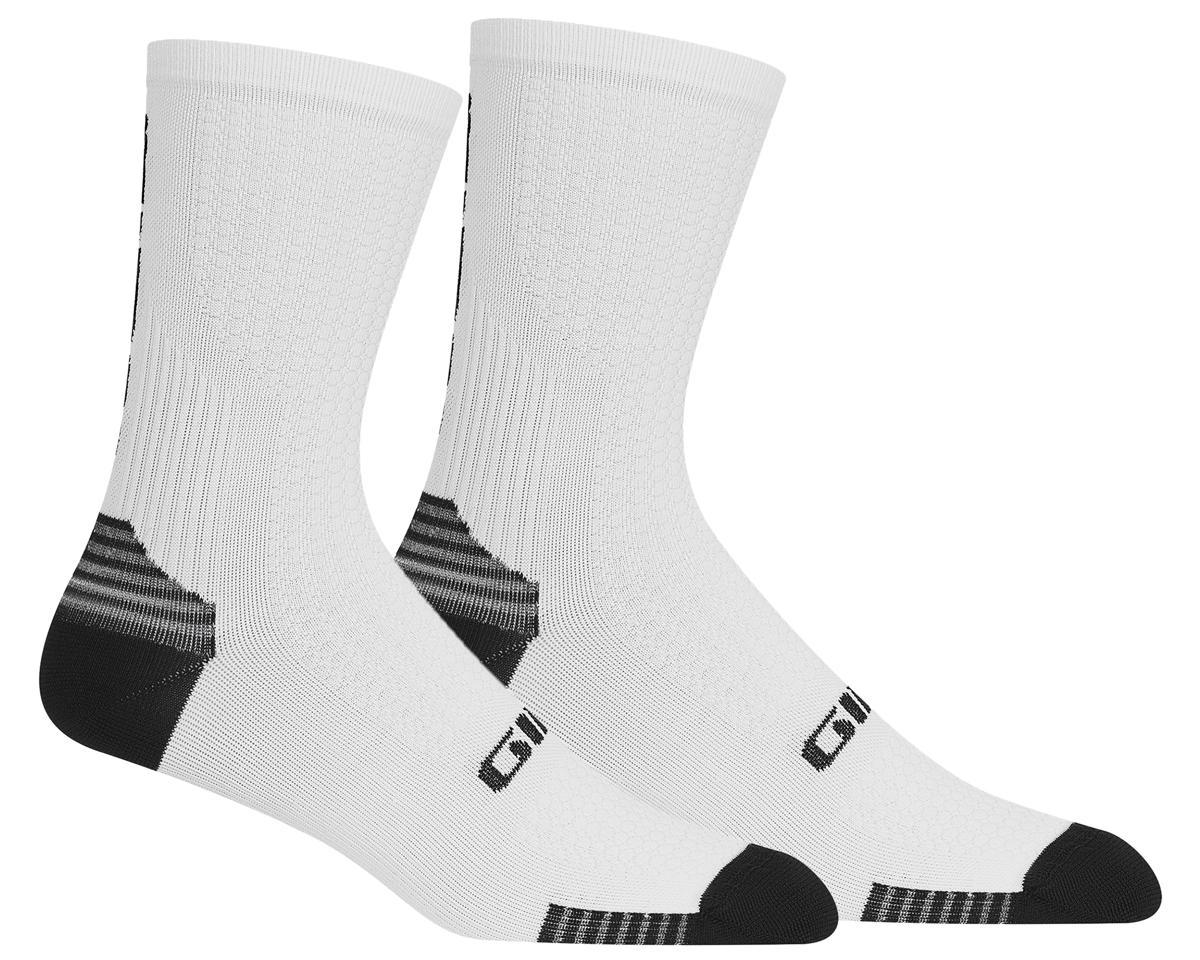 Giro HRc+ Grip Socks (White/Black) (M)
