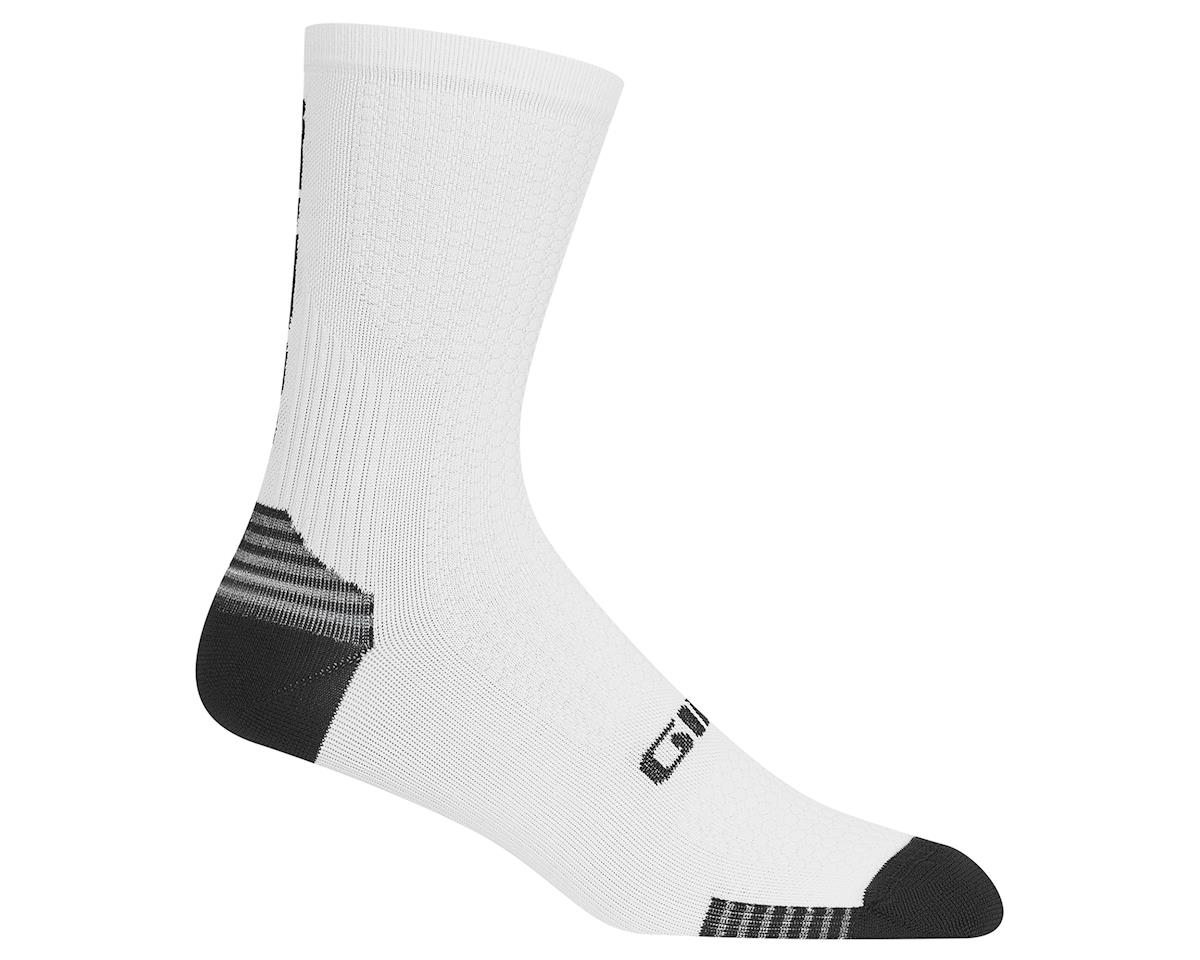 Giro HRc+ Grip Socks (White/Black) (XL)