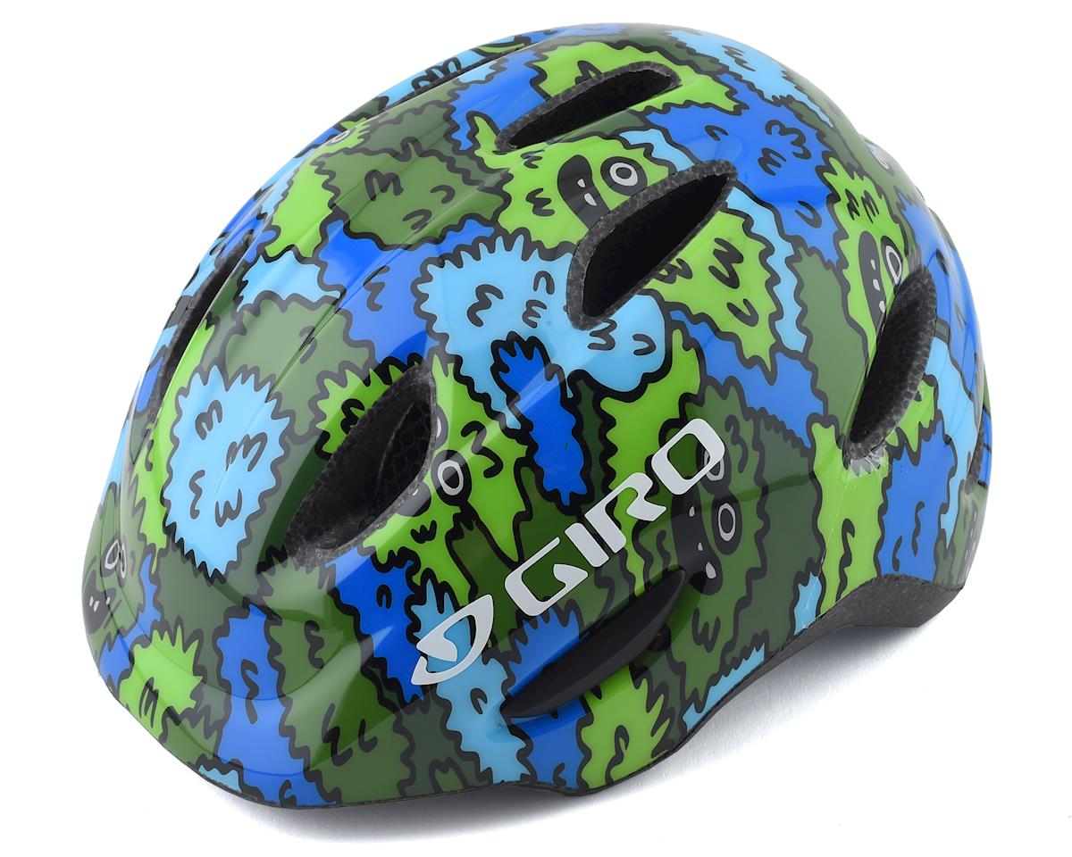 Giro Kids's Scamp Bike Helmet(Blue/Green Creature Camo) (S)