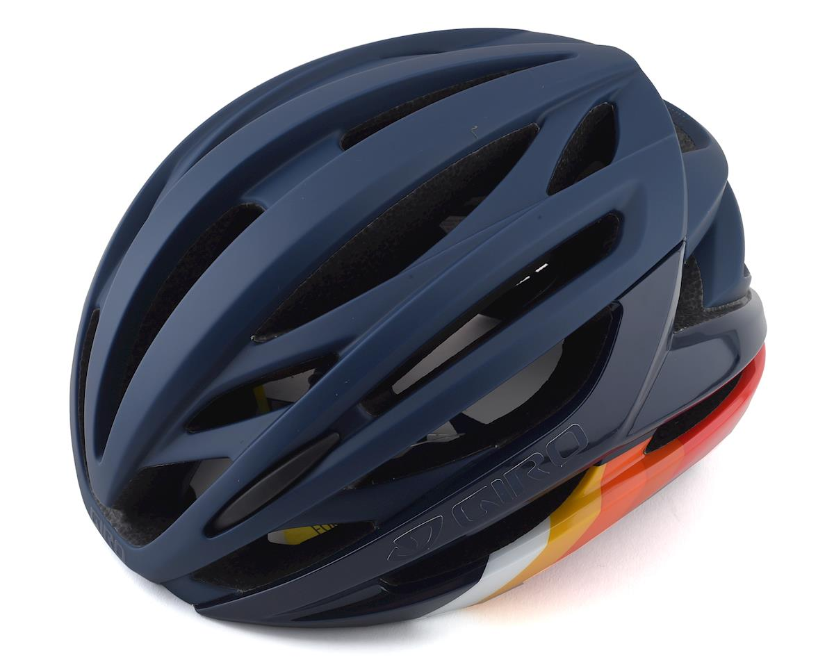 Giro Syntax MIPS Road Helmet (Matte Midnight Bars) (S)