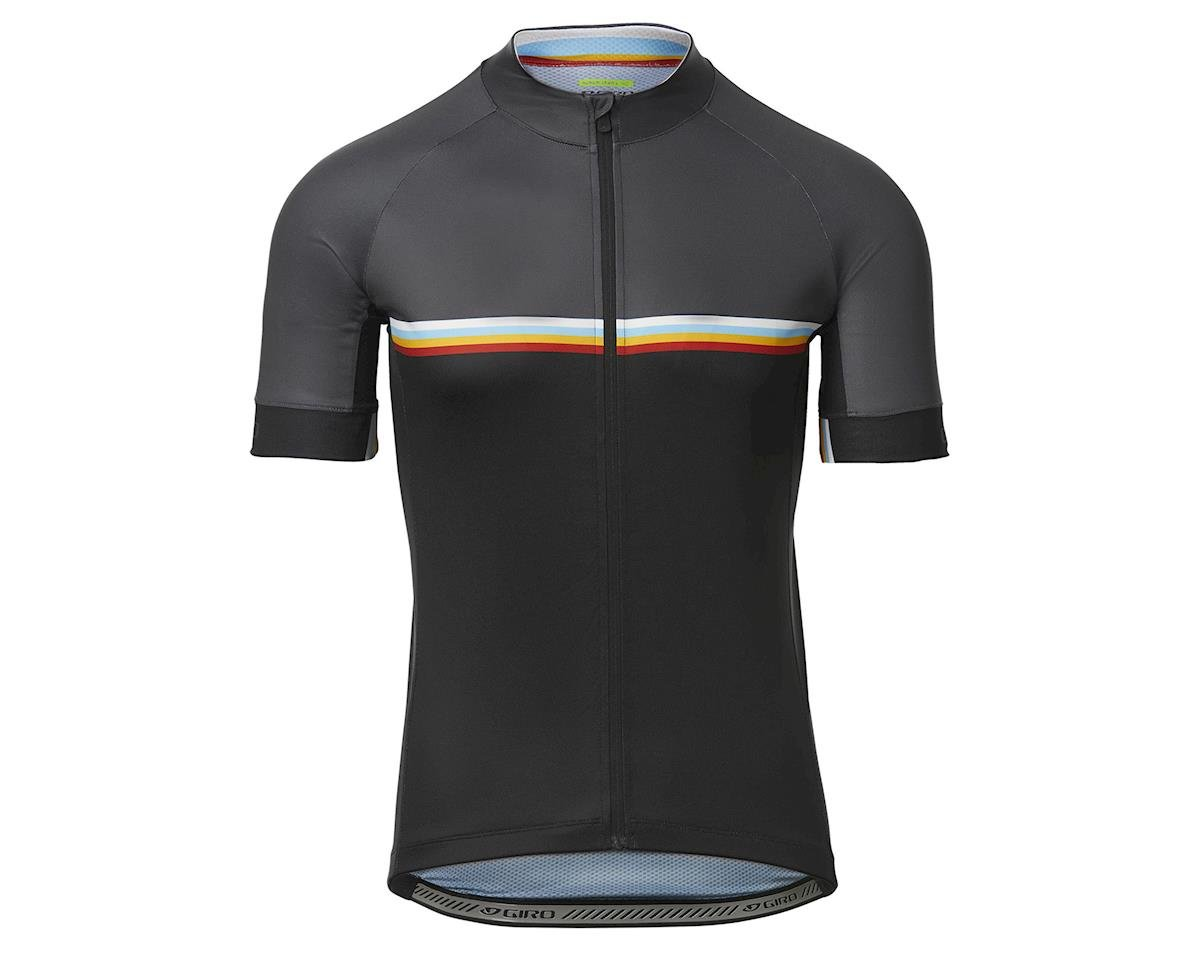 Image 1 for Giro Men's Chrono Sport Short Sleeve Jersey (Black Classic Stripe) (S)
