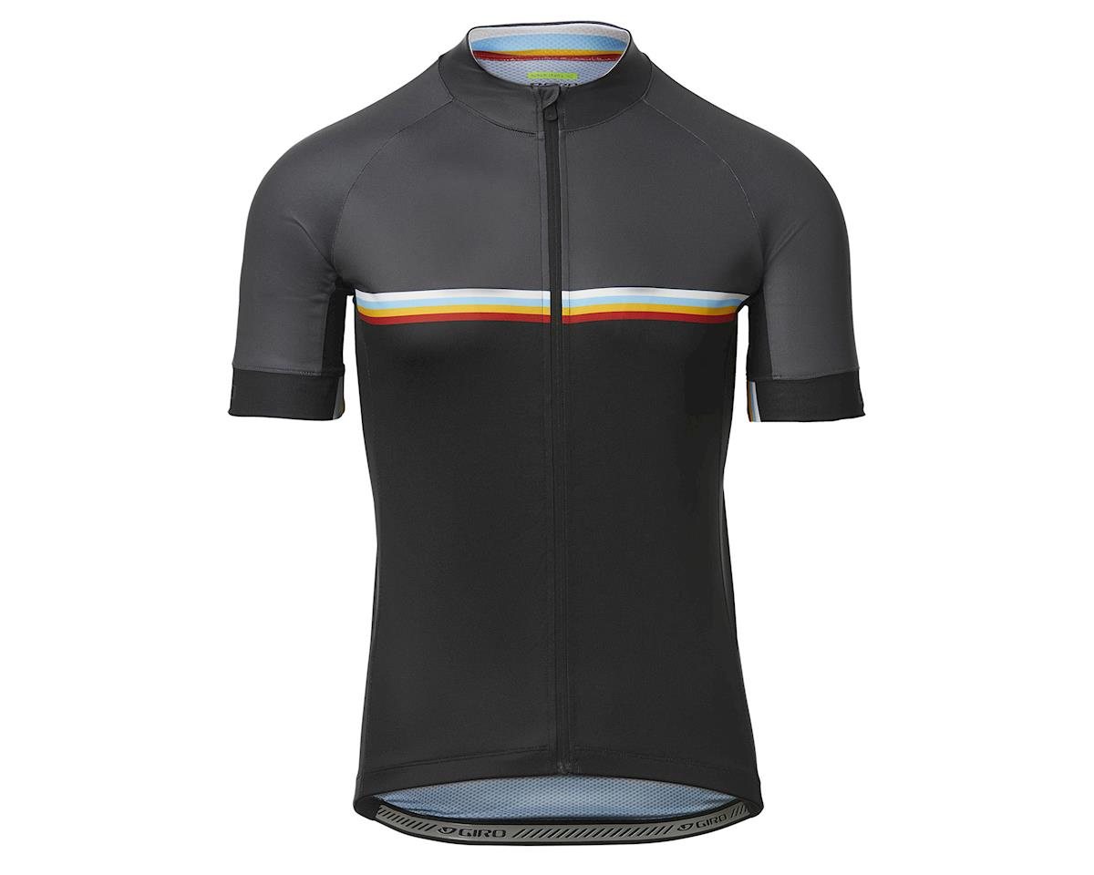 Giro Men's Chrono Sport Short Sleeve Jersey (Black Classic Stripe) (L)