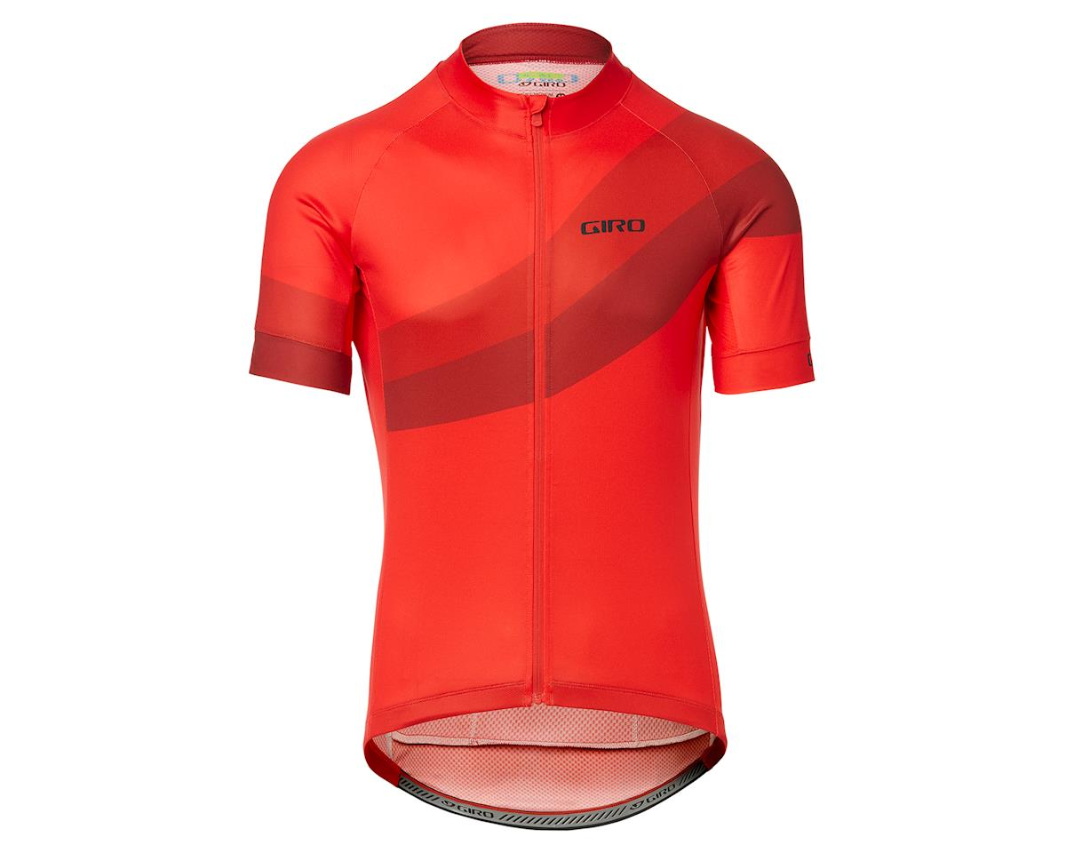Giro Men's Chrono Sport Short Sleeve Jersey (Bright Red Render) (L)
