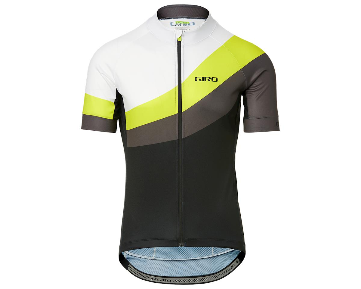 Giro Men's Chrono Sport Short Sleeve Jersey (Citron Green Render) (L)
