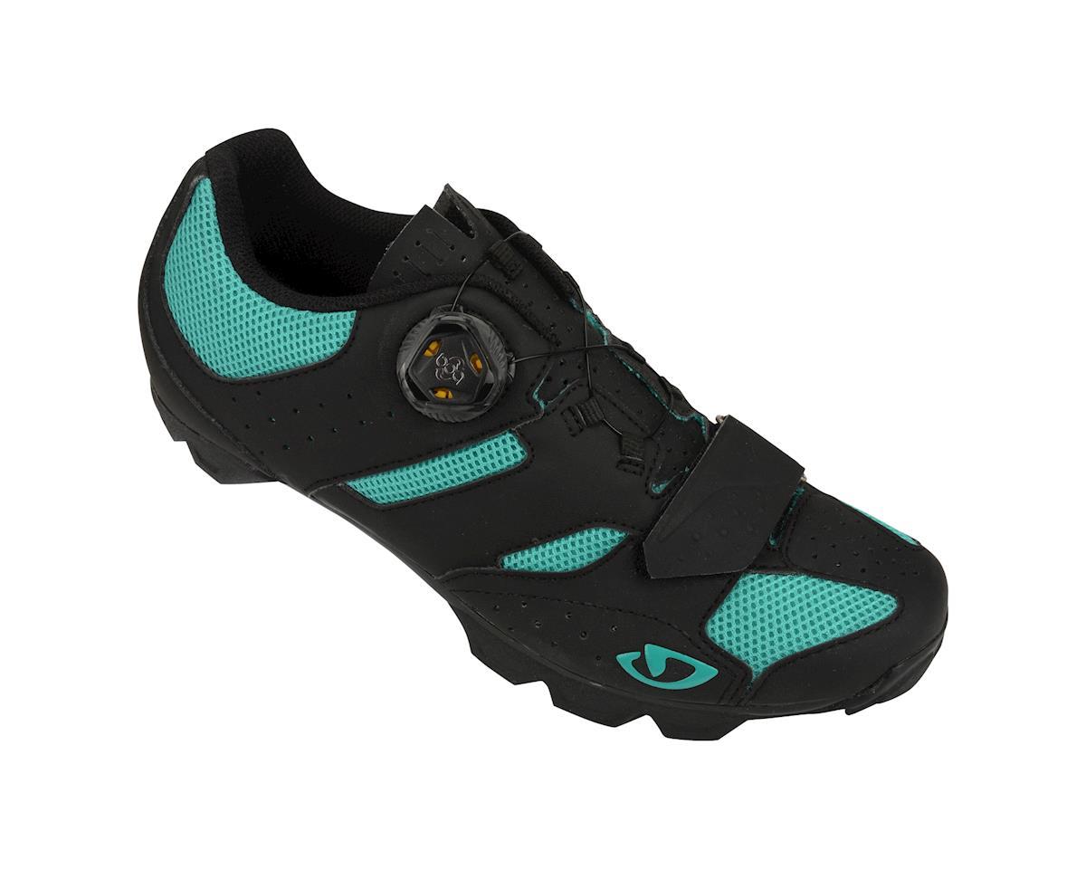 Image 1 for Giro Sage Boa Women's Mountain Shoes - Exclusive (Matte Black/Green) (36.0)