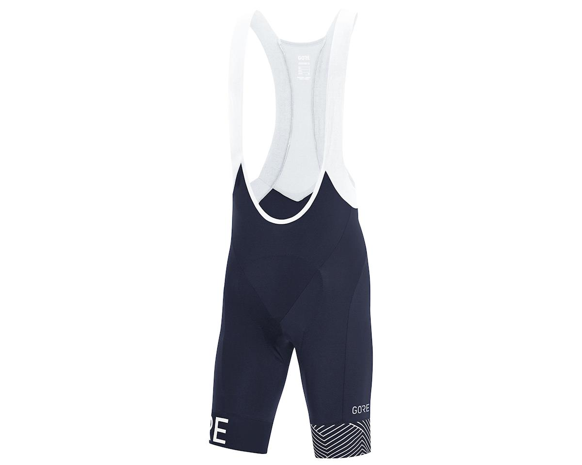 Gore Wear C5 Opti Bib Shorts+  (Oribit Blue/White) (XL)