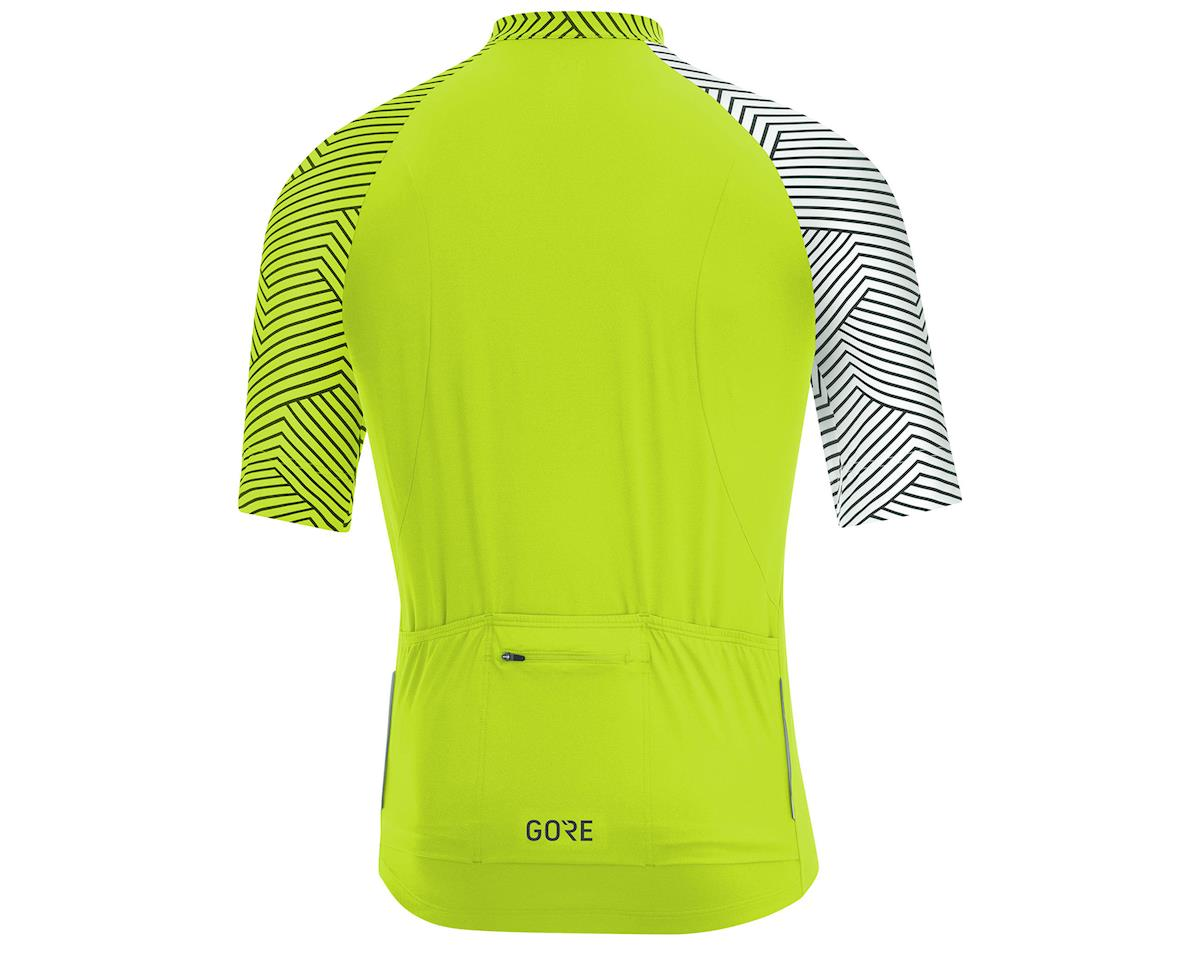 Image 2 for Gore Wear C5 Jersey (Citrus Green/White) (M)