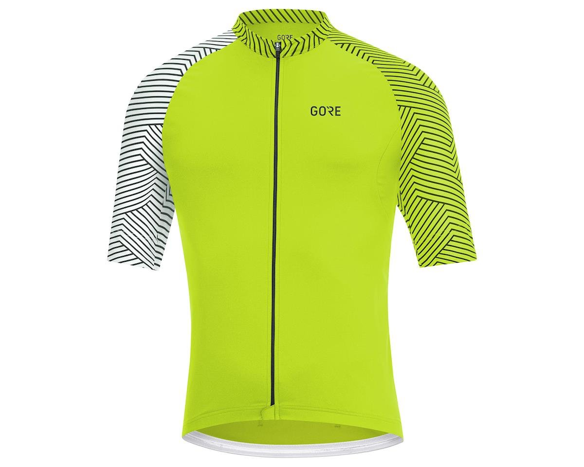 Image 1 for Gore Wear C5 Jersey (Citrus Green/White) (S)