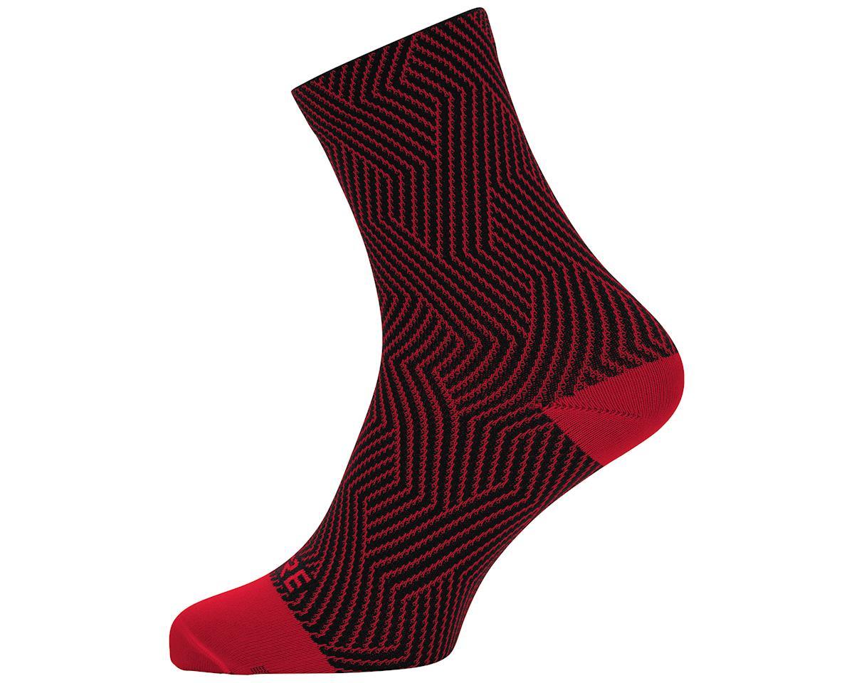 Gore Wear C3 Mid Socks (Red/Black) (L)