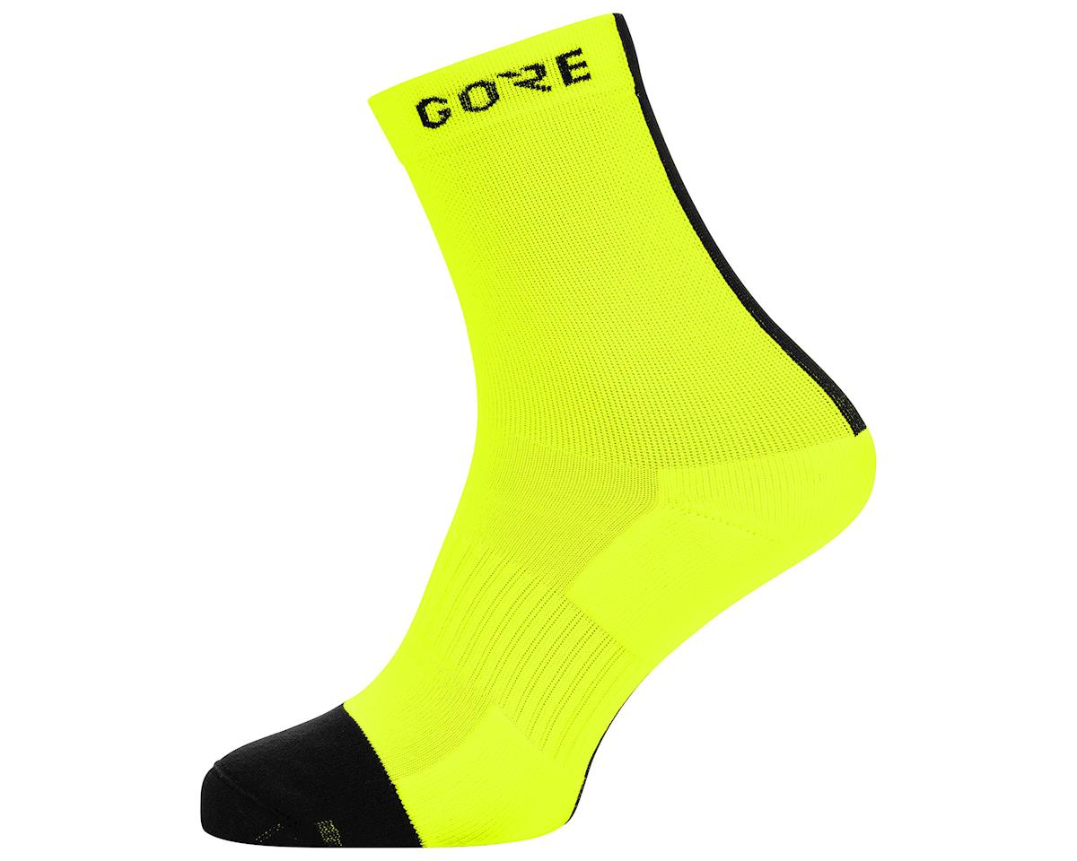 Gore Wear M Mid Socks (Neon Yellow/Black) (XL)