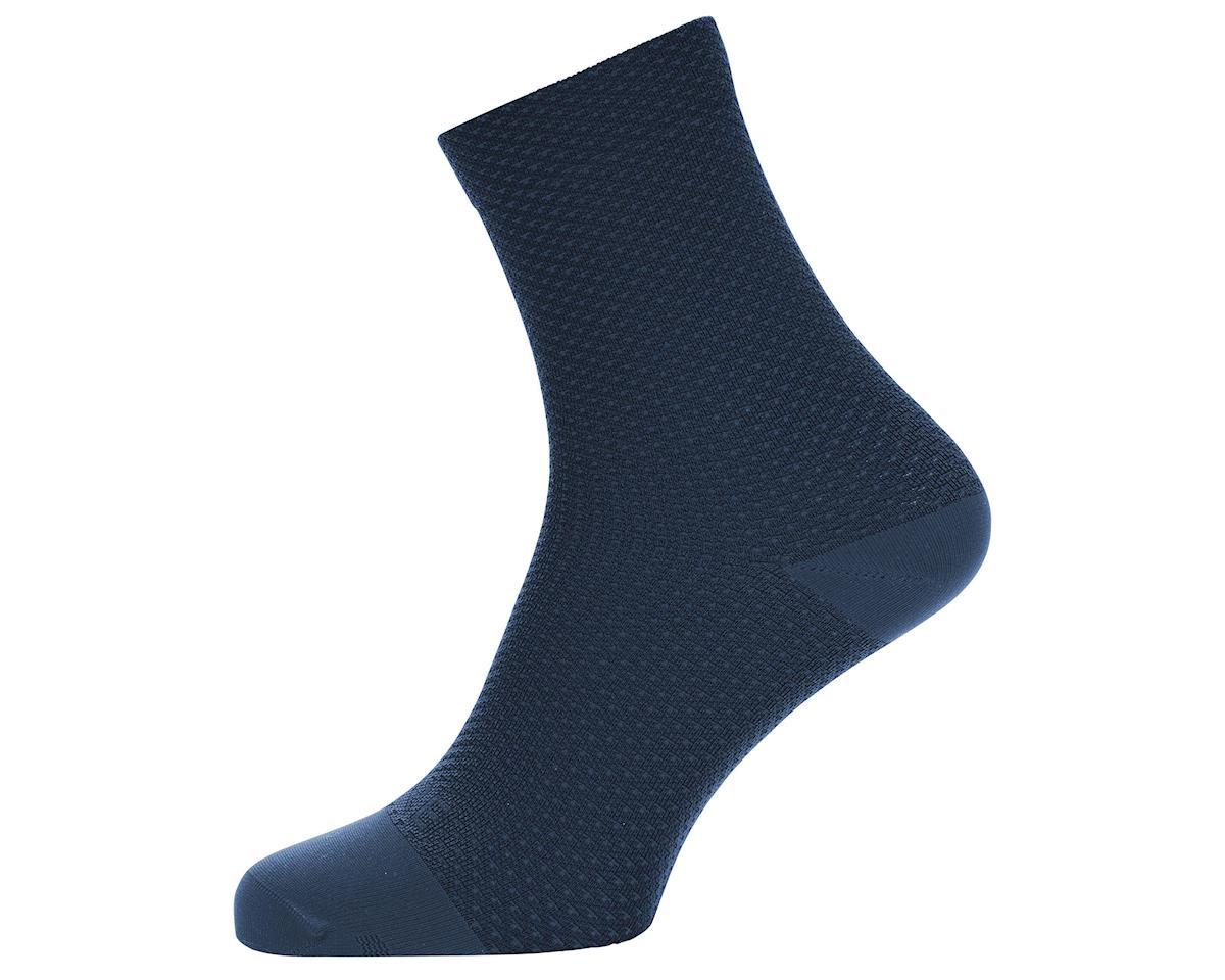 Gore Wear C3 Dot Mid Socks (Orbit Blue/Deep Water Blue) (L)