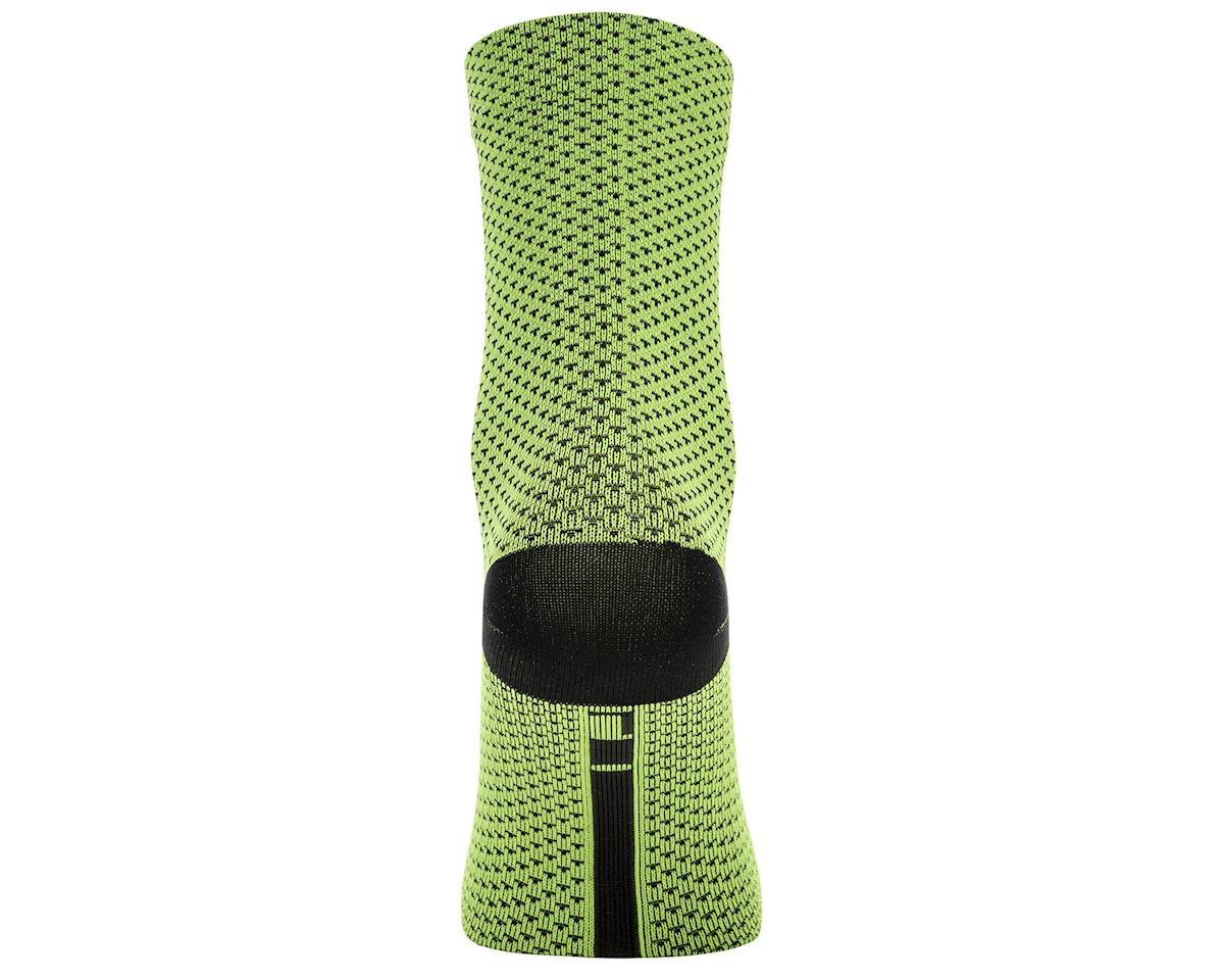 Gore Wear C3 Dot Mid Socks (Neon Yellow/Black) (XL)
