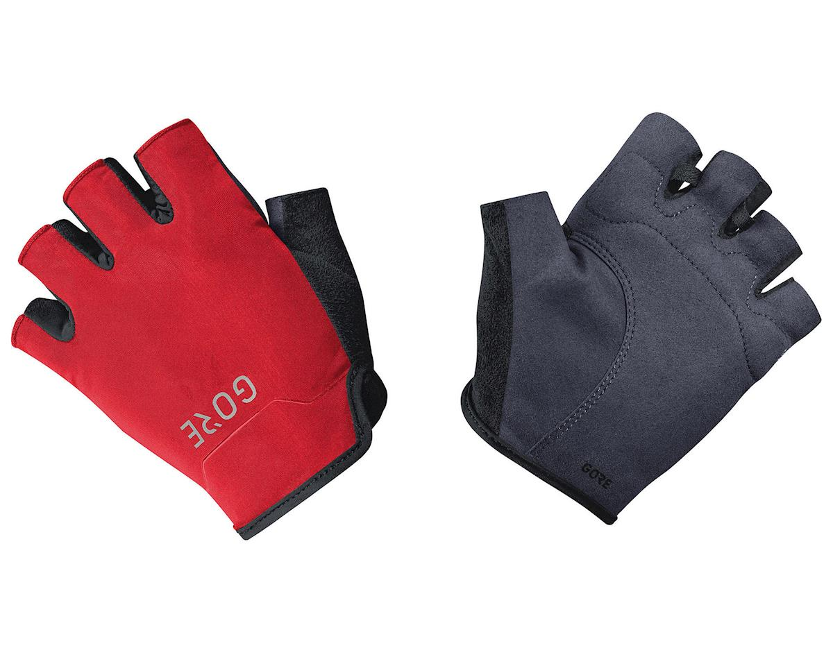 Gore Wear C3 Short Finger Gloves (Black/Red) (M)
