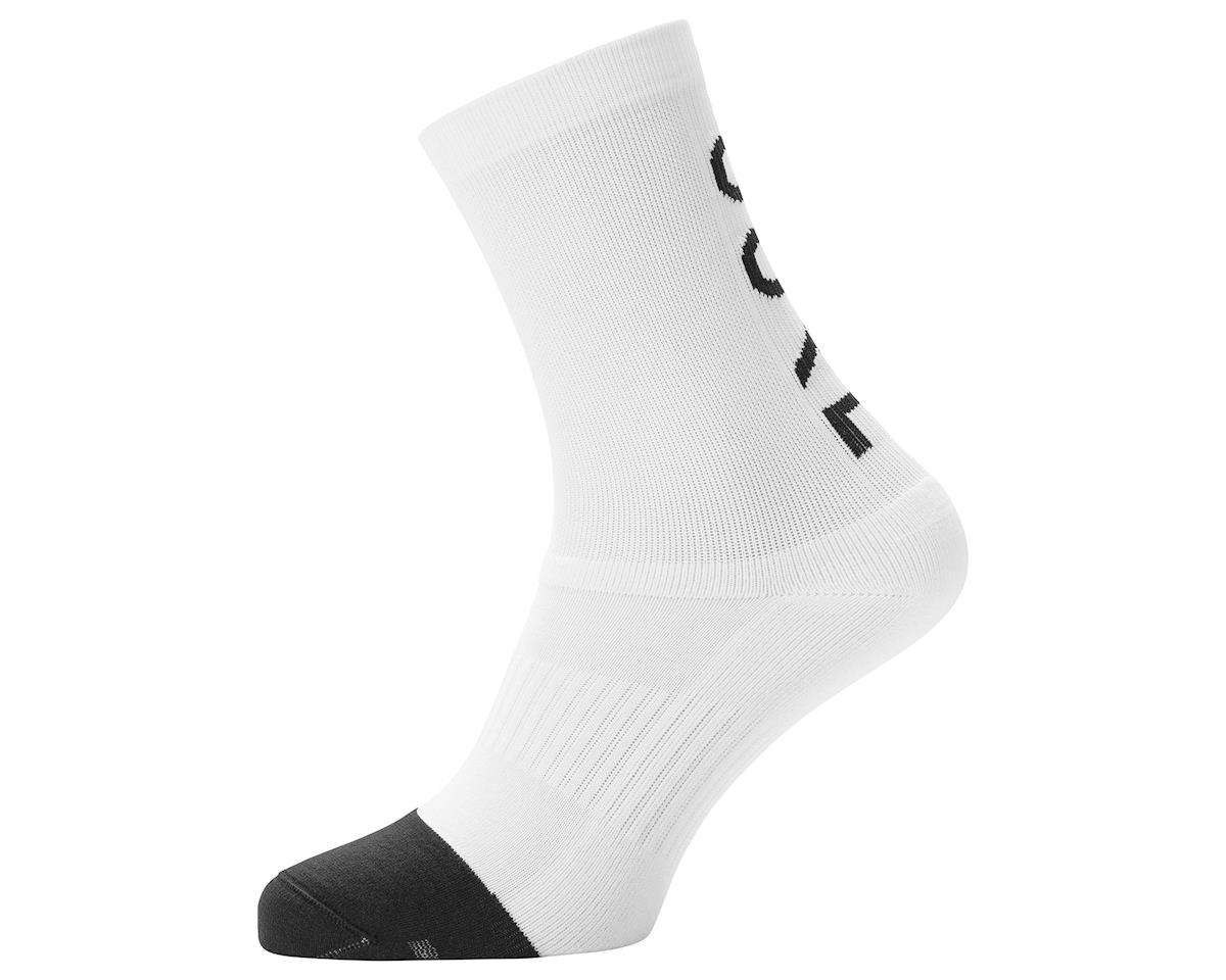 Gore Wear M Mid Brand Socks (White/Black) (XL)