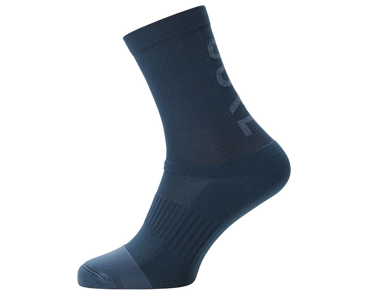 Gore Wear M Mid Brand Socks (Blue) (XL)