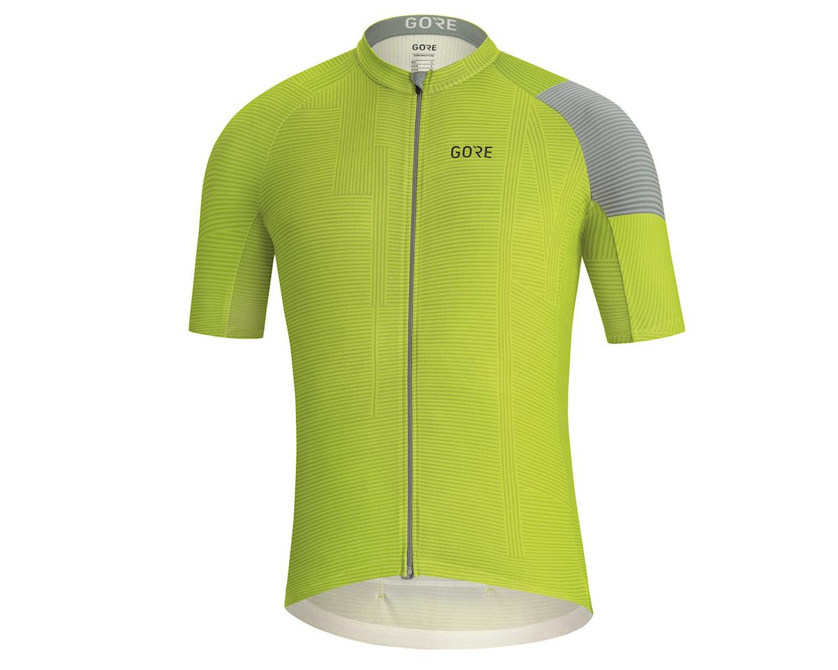 Image 1 for Gore Wear C3 Line Jersey (Citrus Green/Nordic Blue) (XL)