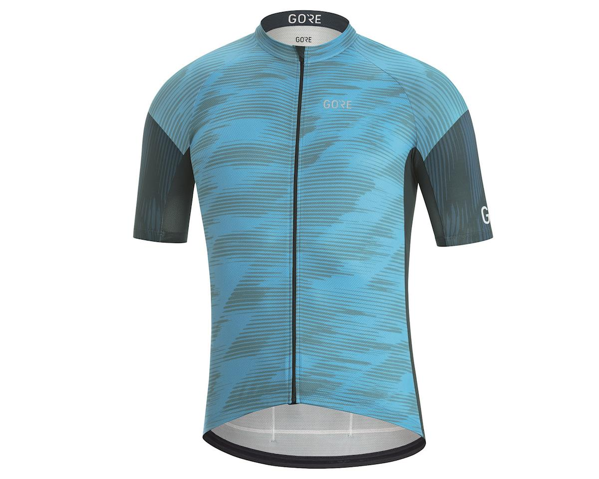 Gore Wear C3 Knit Design Jersey (Dynamic Cyan/Orbit Blue) (XL)