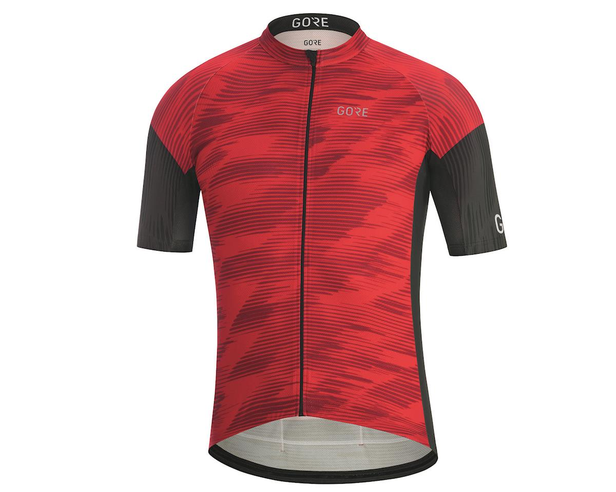 Gore Wear C3 Knit Design Jersey (Red/Black) (XL)