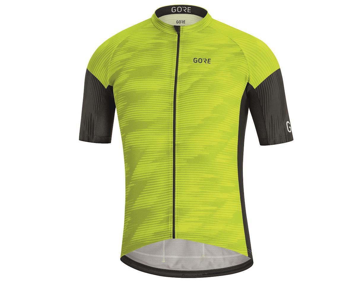 Gore Wear C3 Knit Design Jersey (Citrus Green/Black) (L)
