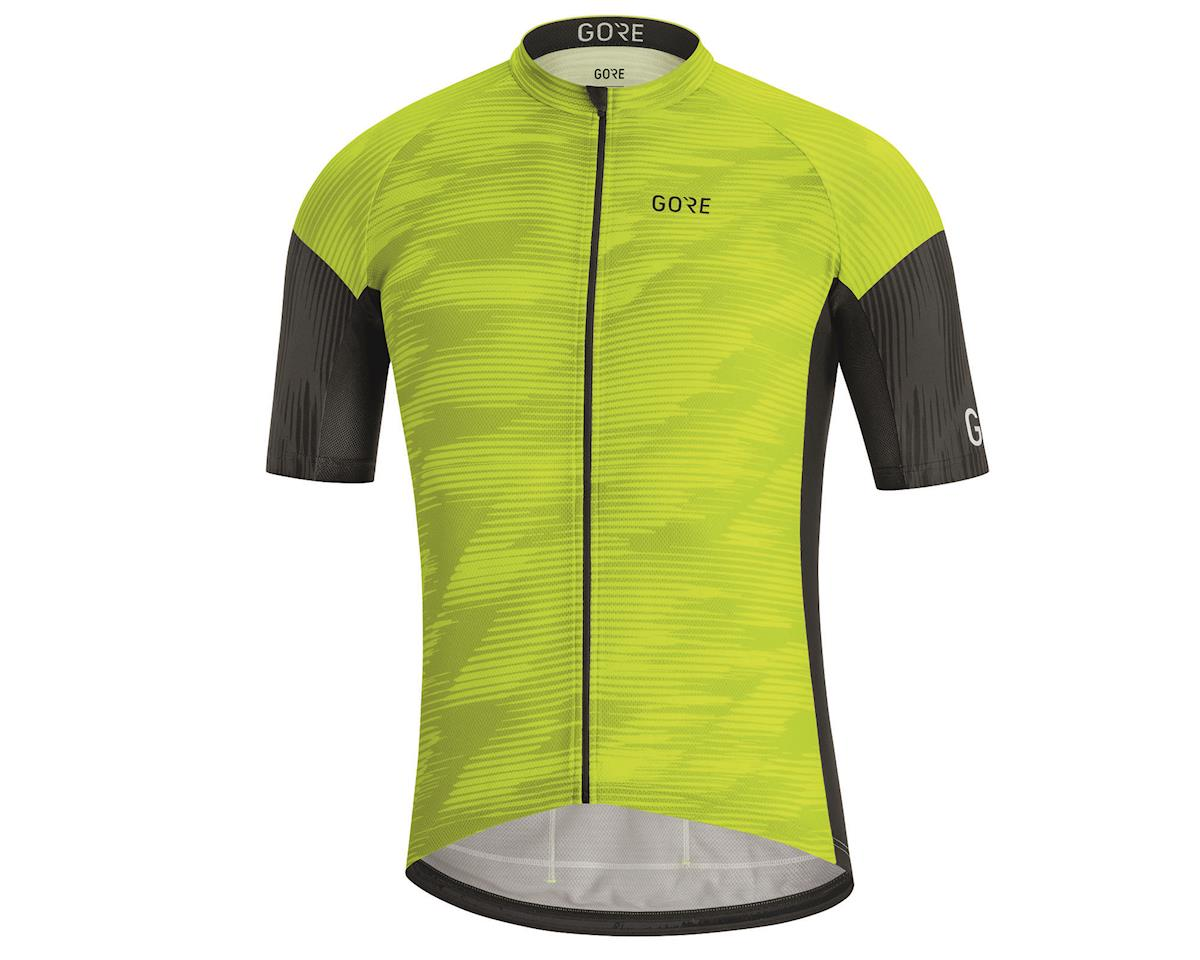 Gore Wear C3 Knit Design Jersey (Citrus Green/Black) (XL)