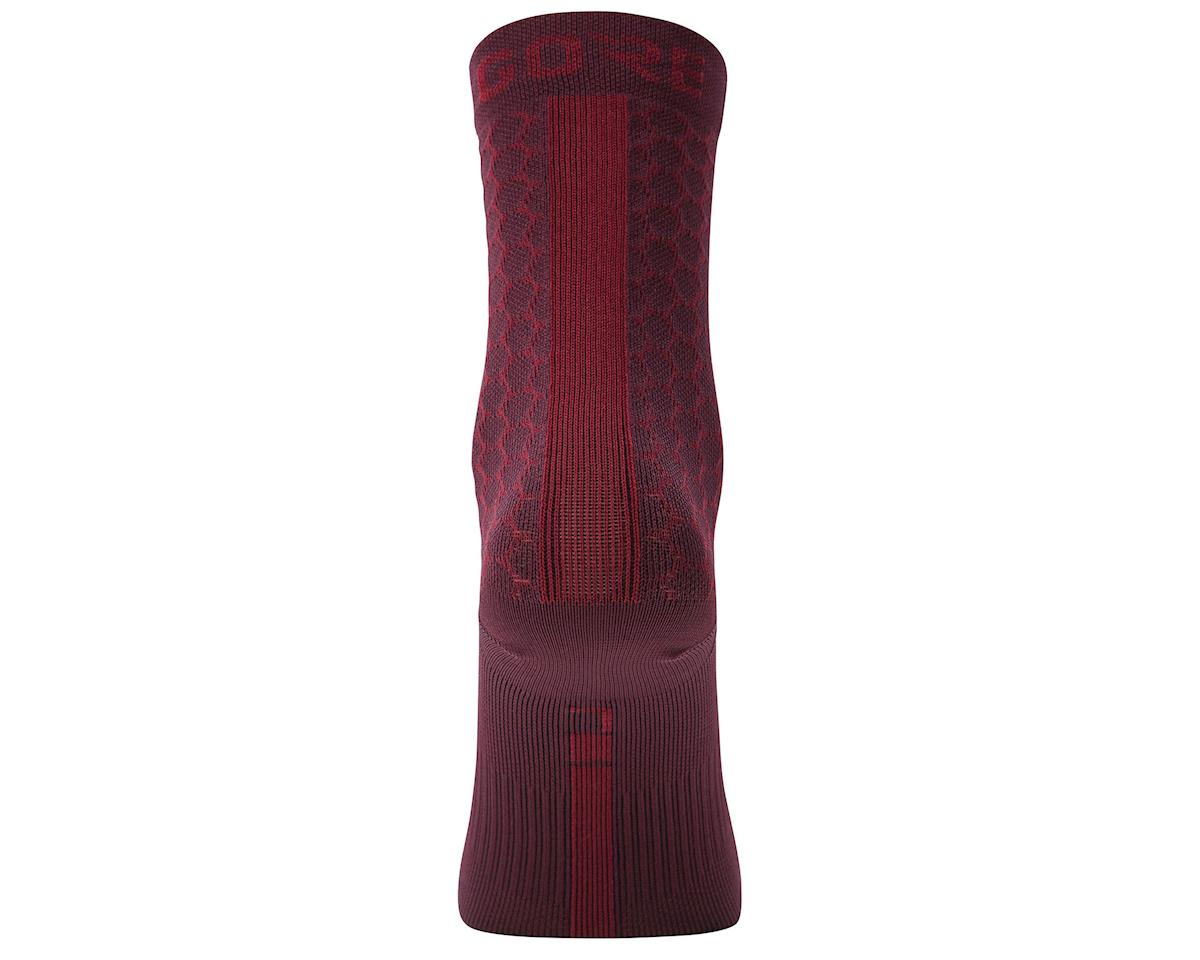 Image 2 for Gore Wear C3 Heptagon Mid Socks (Red) (S)