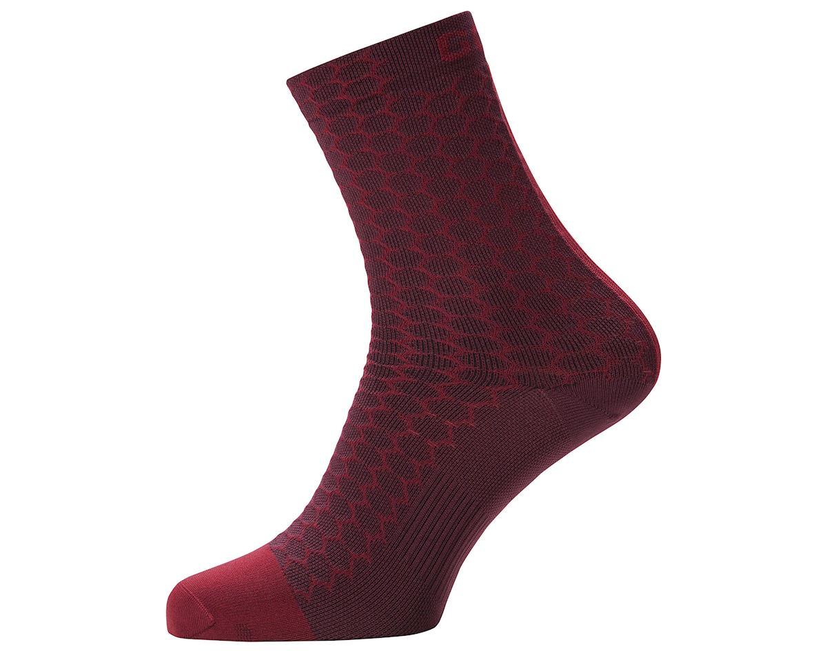 Gore Wear C3 Heptagon Mid Socks (Red) (L)