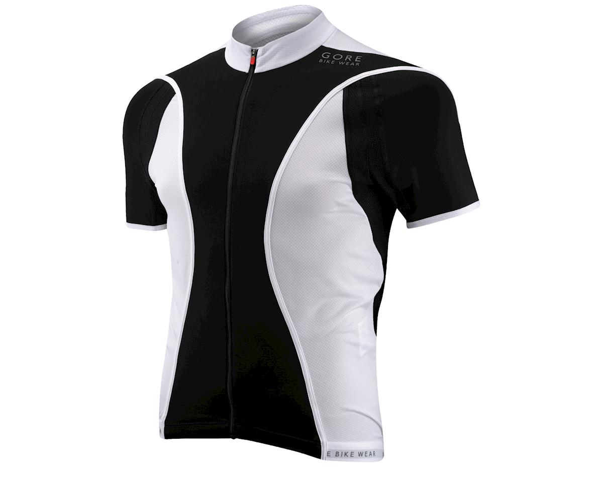 Gore Wear Oxygen FZ Short Sleeve Jersey (Black/White)