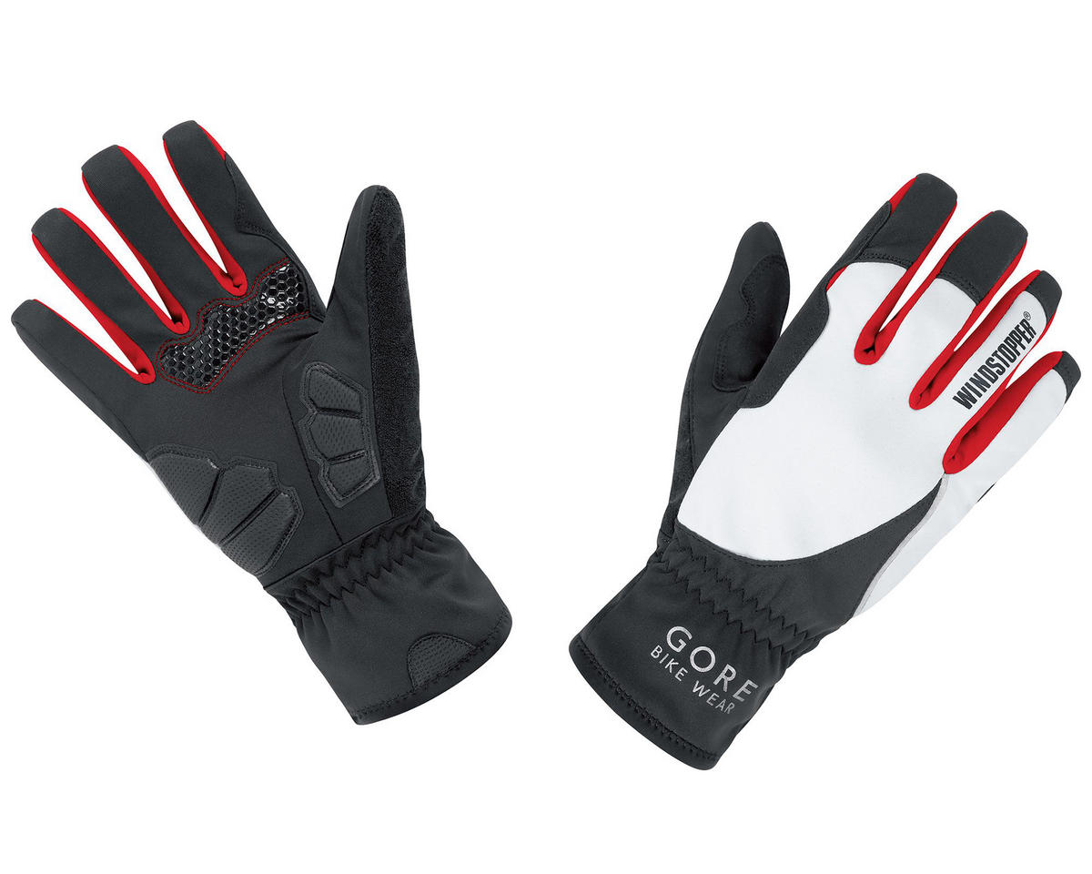 Gore Bike Wear Power Lady Windstopper Gloves (Black/White) (M)