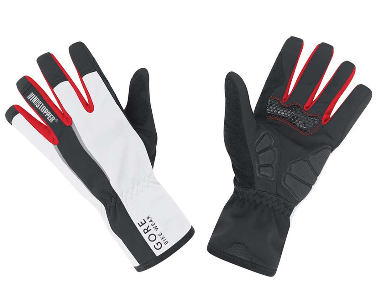 Gore Bike Wear Power Windstopper Gloves (Black/White ) (XL)