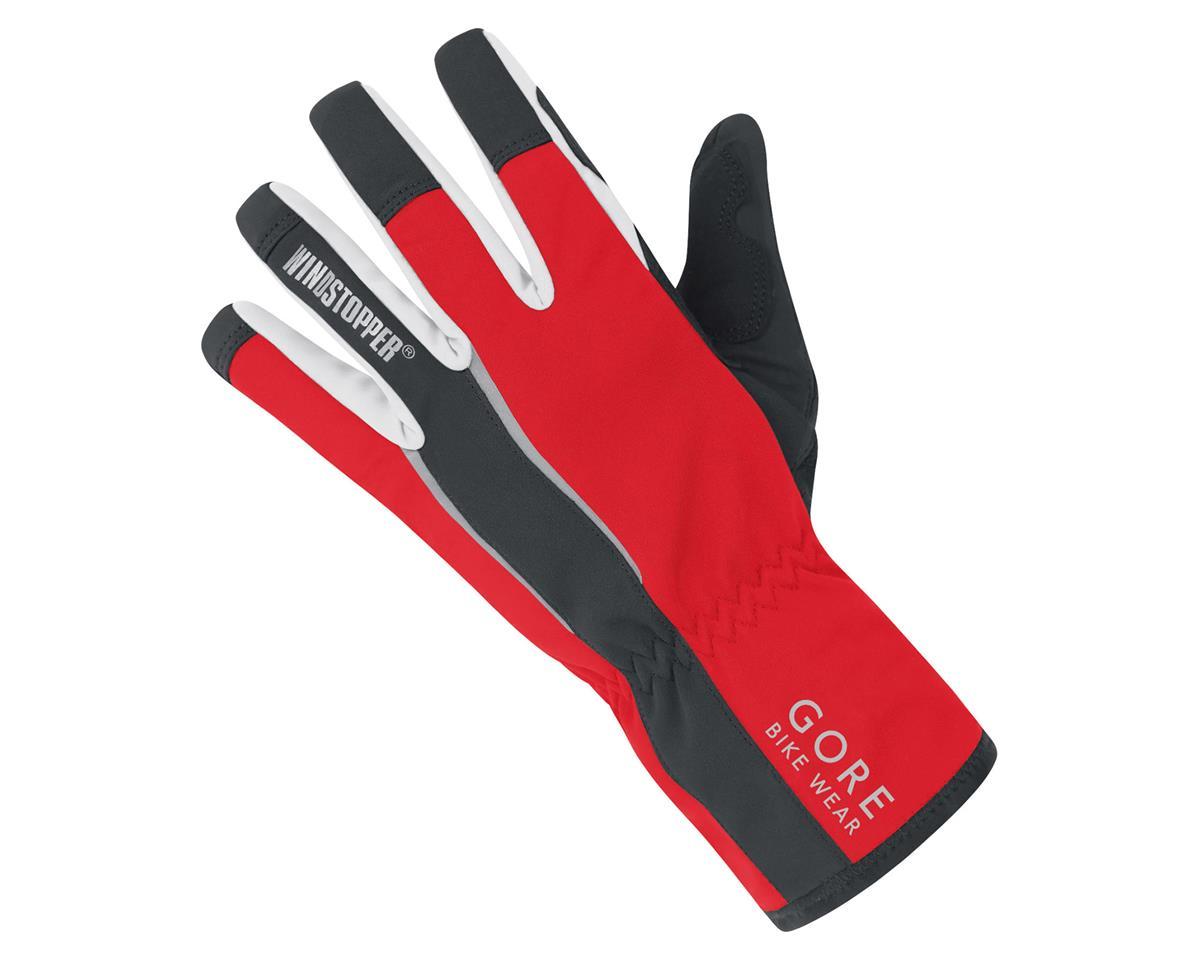 Gore Bike Wear Power Windstopper Gloves (Black/Red) (XL)