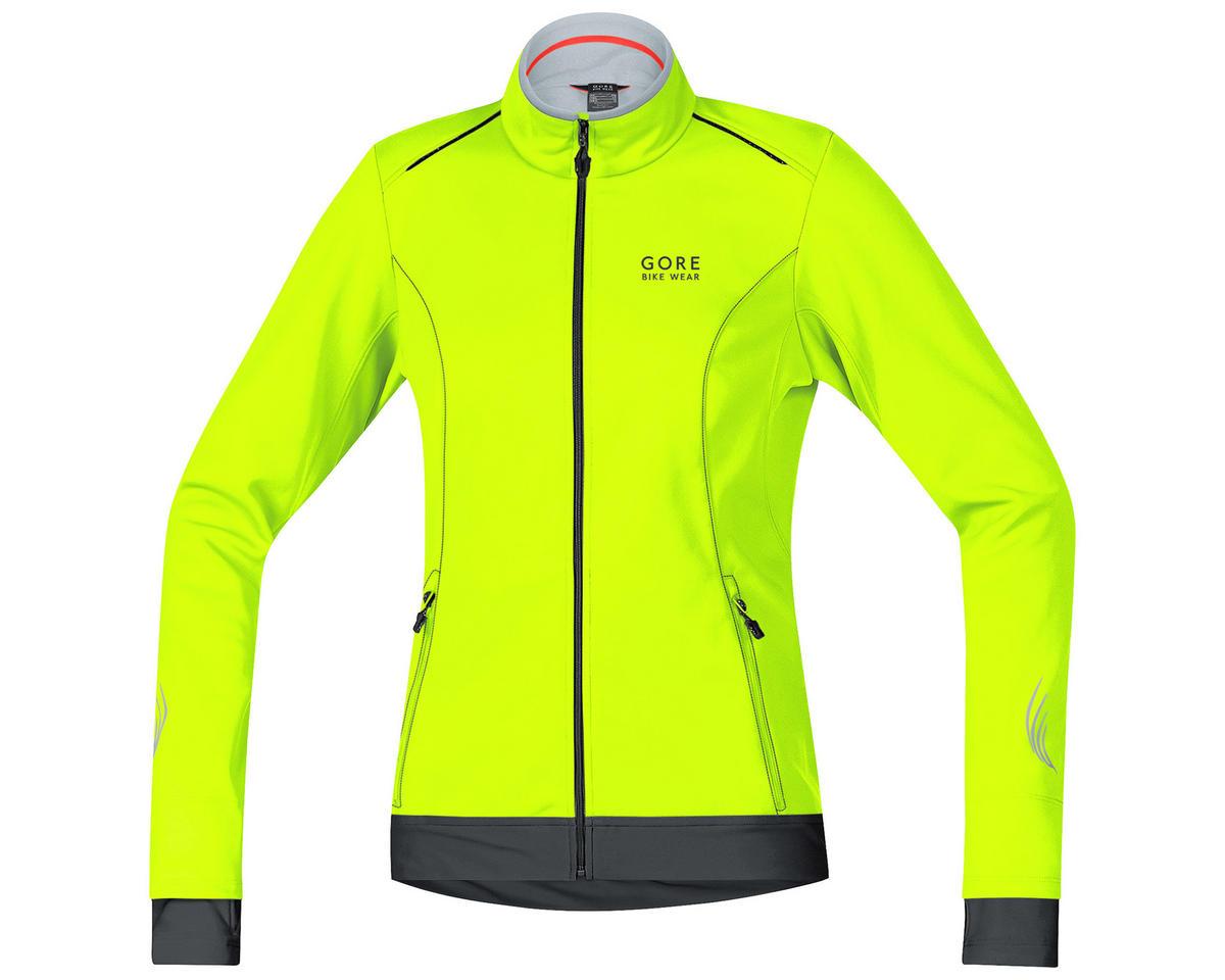 Gore Bike Wear Element Lady Windstopper Soft Shell Jacket (Neon Yellow/Black) (M)
