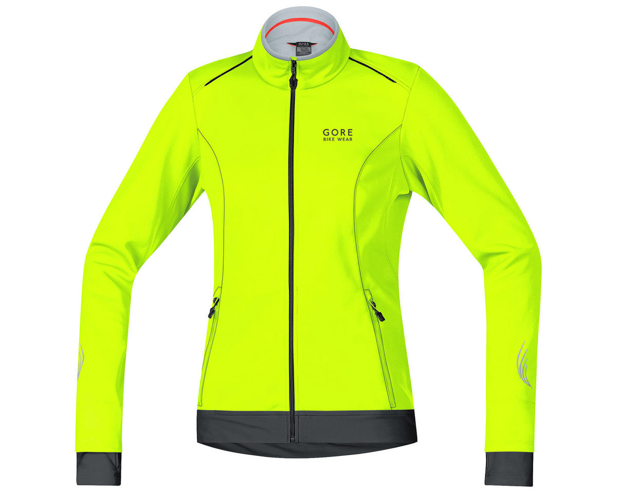 Gore Bike Wear Element Lady Windstopper Soft Shell Jacket (Neon Yellow/Black)