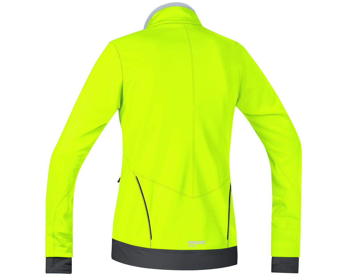 Gore Bike Wear Element Lady Windstopper Soft Shell Jacket (Neon Yellow/Black) (XS)