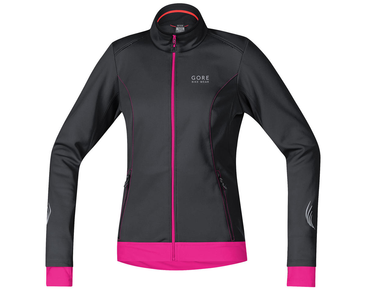 Gore Element Lady Windstopper Soft Shell Jacket (Black/Magenta) (M)