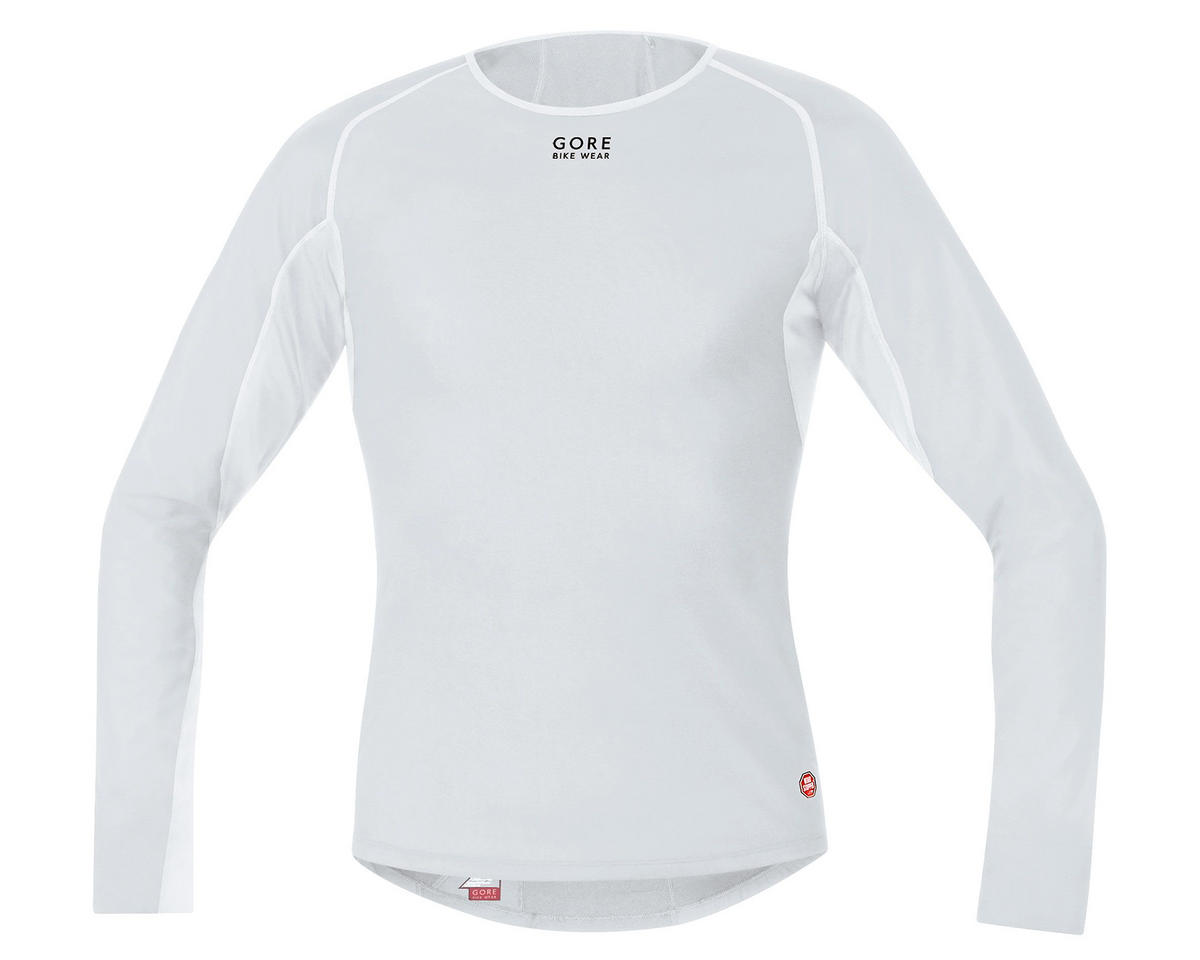 Gore Bike Wear Windstopper Base Layer Thermo Long Shirt (Light Grey) (2XL)