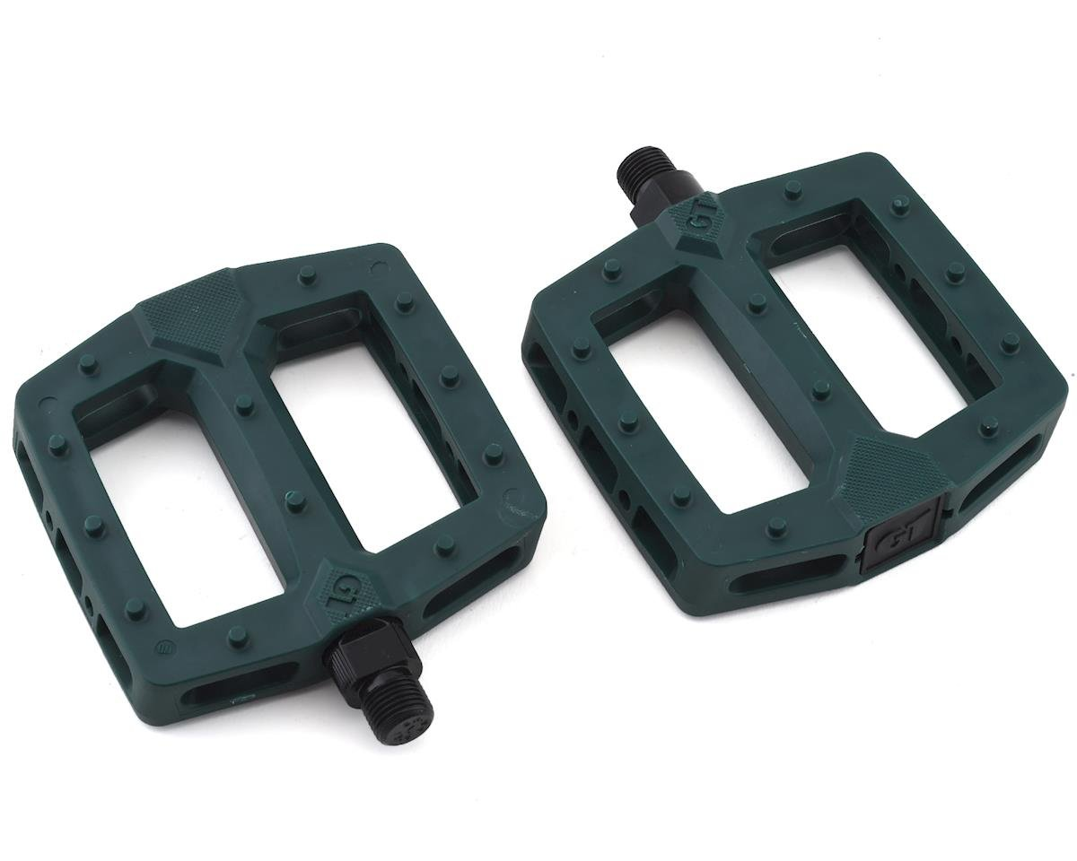 "GT PC Logo Pedals (Green) (9/16"")"